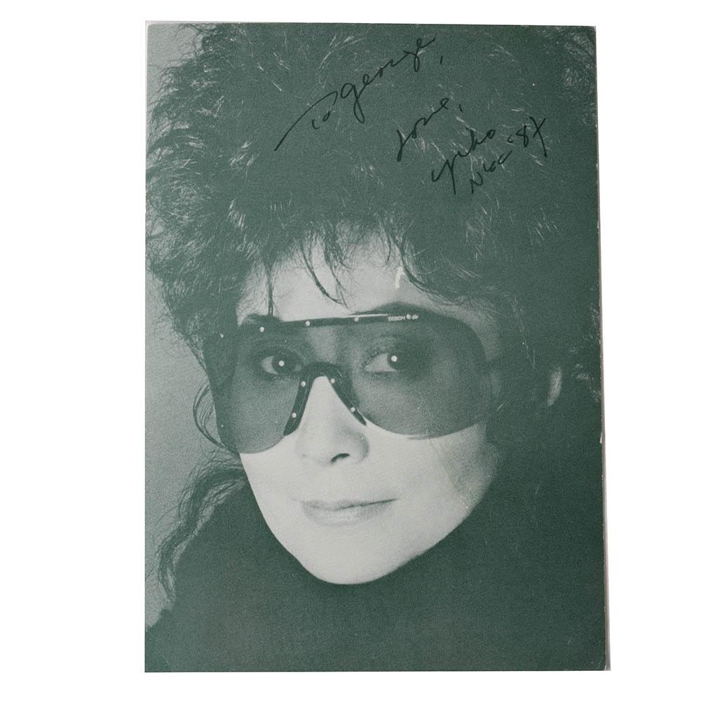 Yoko Ono Autographed Photograph, JSA COA
