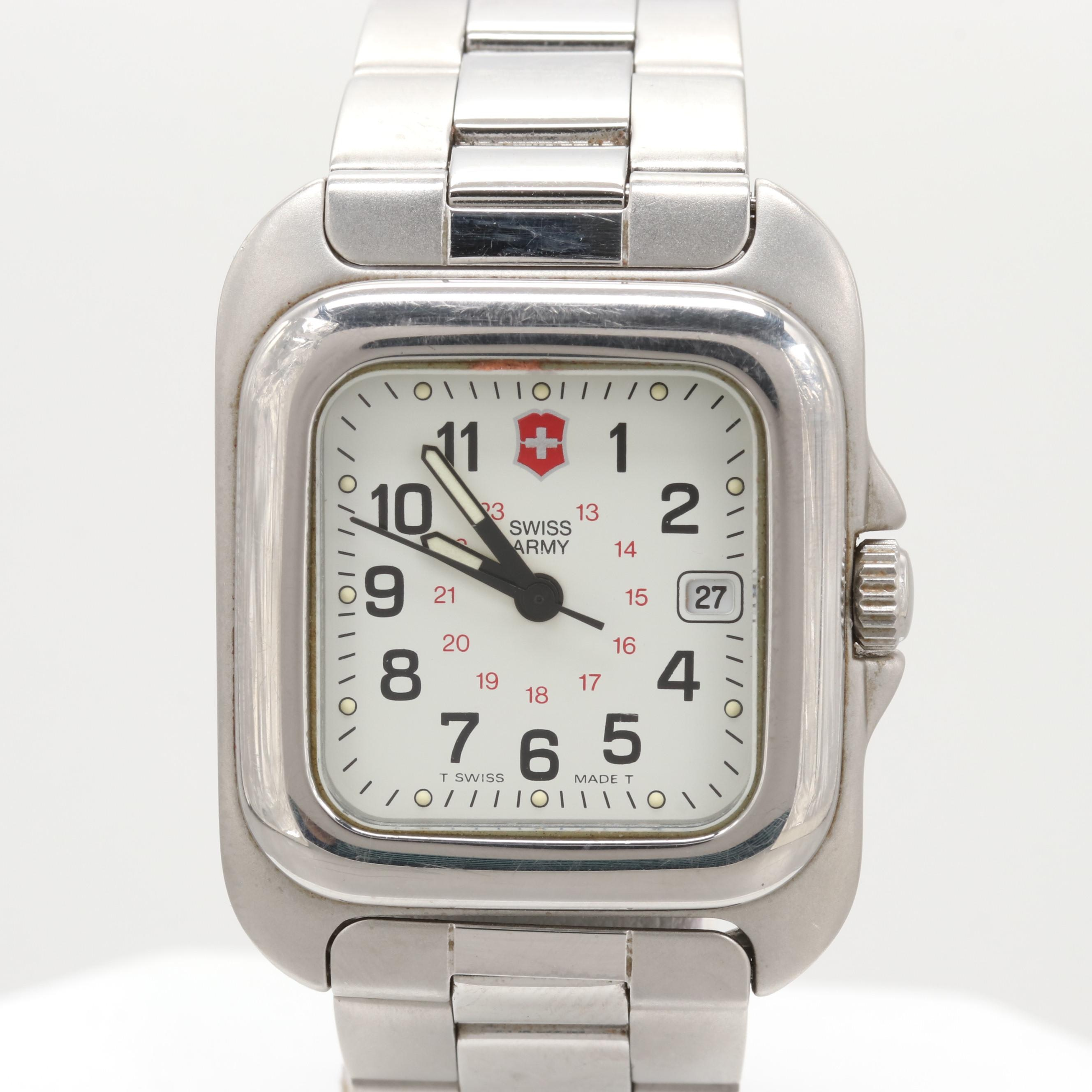 Swiss Army Stainless Steel Quartz Wristwatch