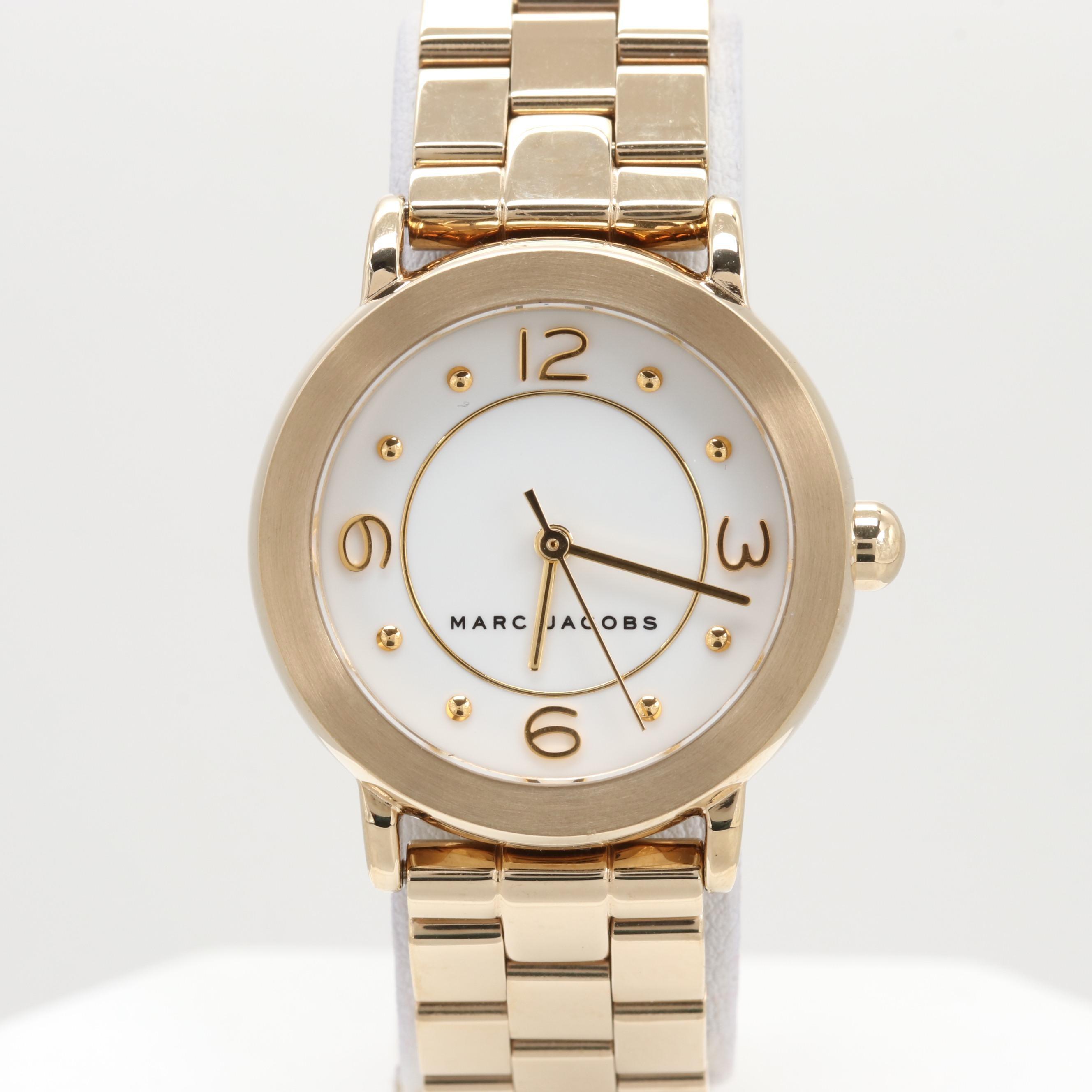 Marc Jacobs Riley Gold Tone Quartz Wristwatch
