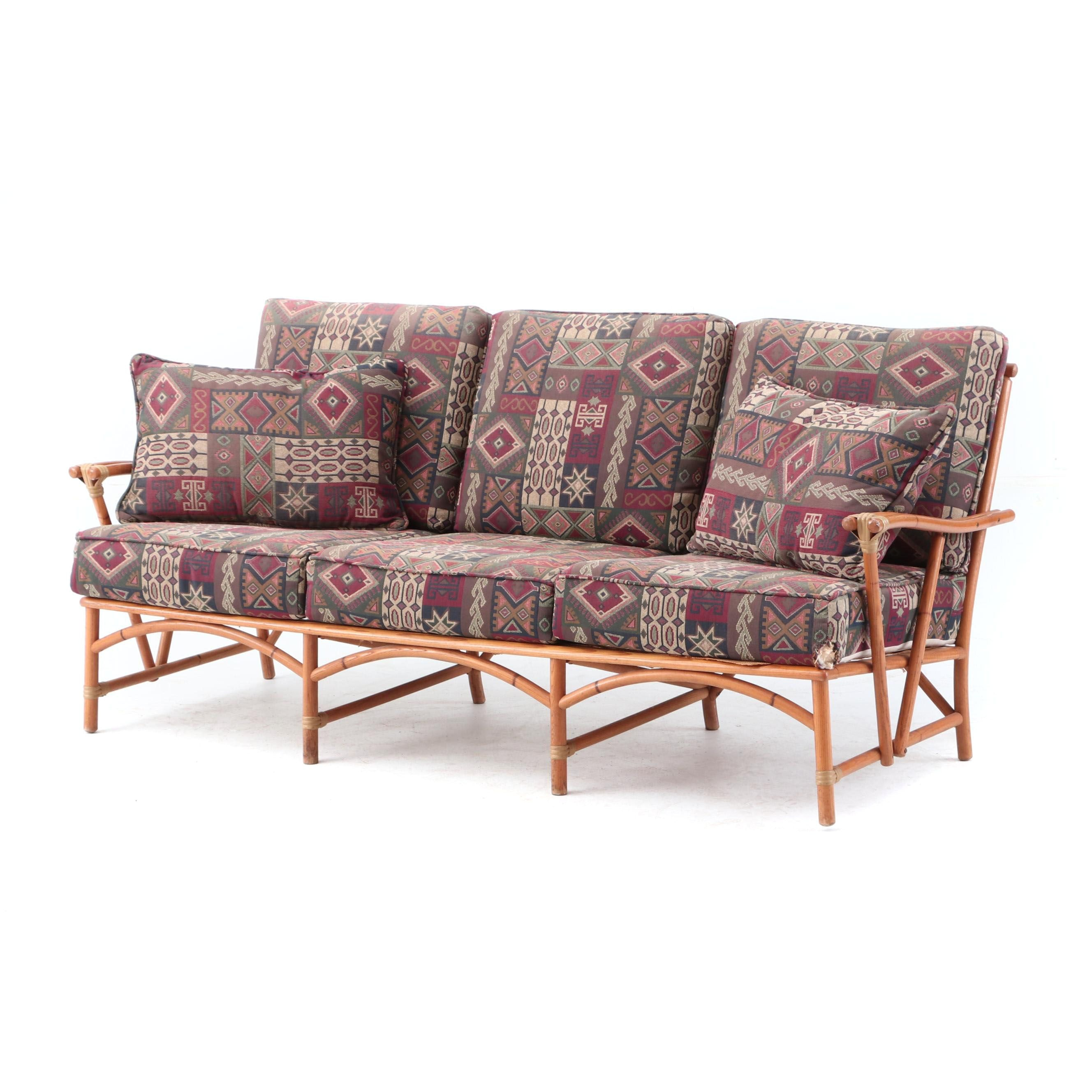 Heywood Wakefield Sofa With Upholstered Cushions Ebth