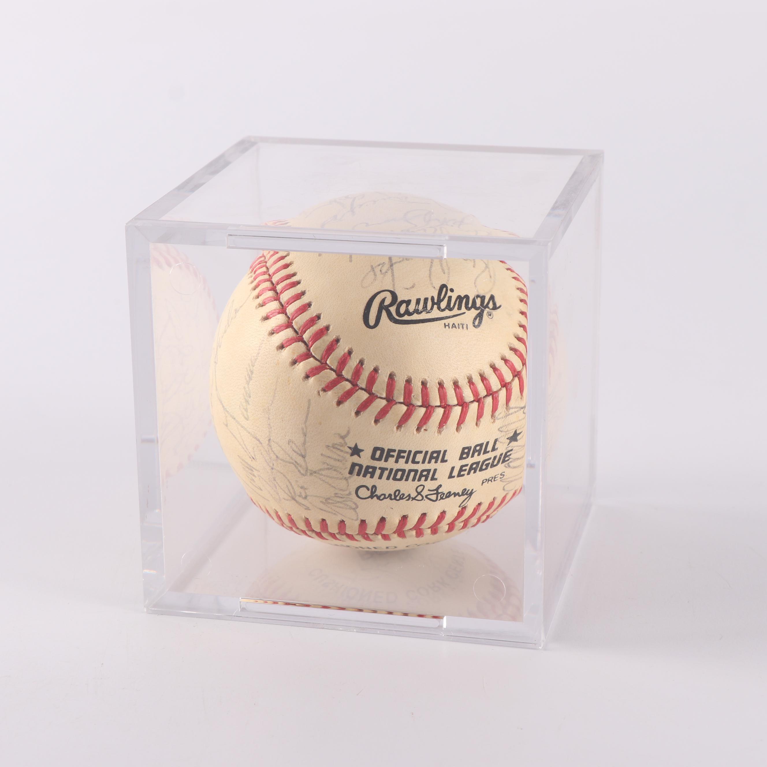 Philadelphia Phillies Autographed Baseball with Claude Osteen
