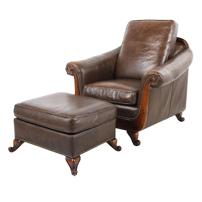 Superb Decoro Leather Chair And Ottoman Ebth Unemploymentrelief Wooden Chair Designs For Living Room Unemploymentrelieforg