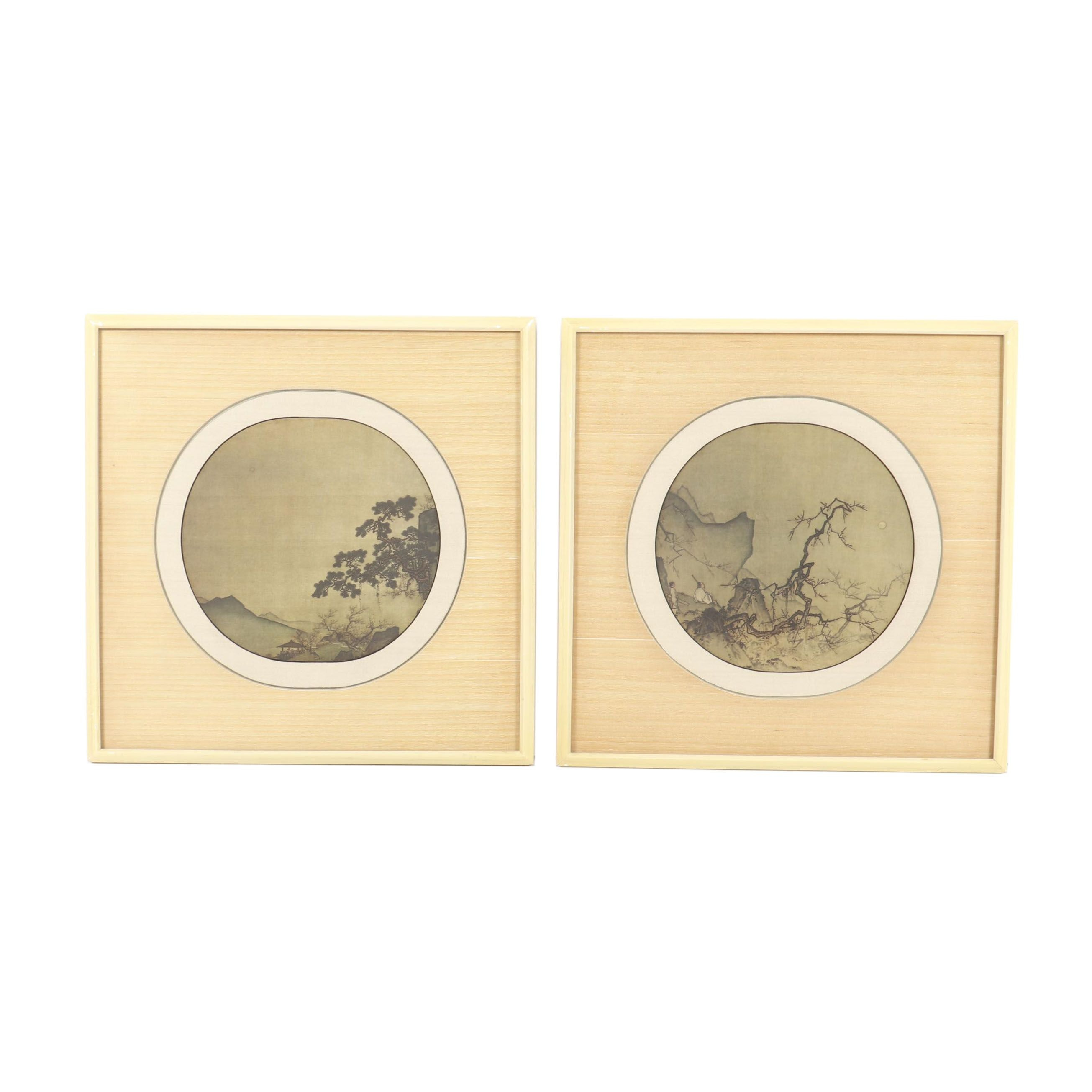 Reproduction Lithographs of Chinese Folding Fans