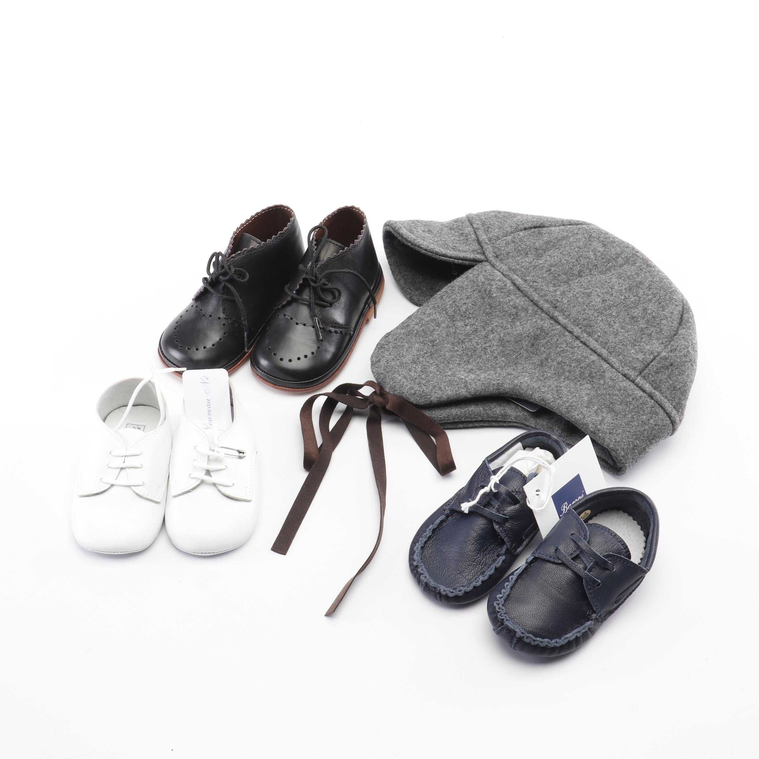 Children's Leather Shoes and Wool Hat Including Odile La Stupenderia