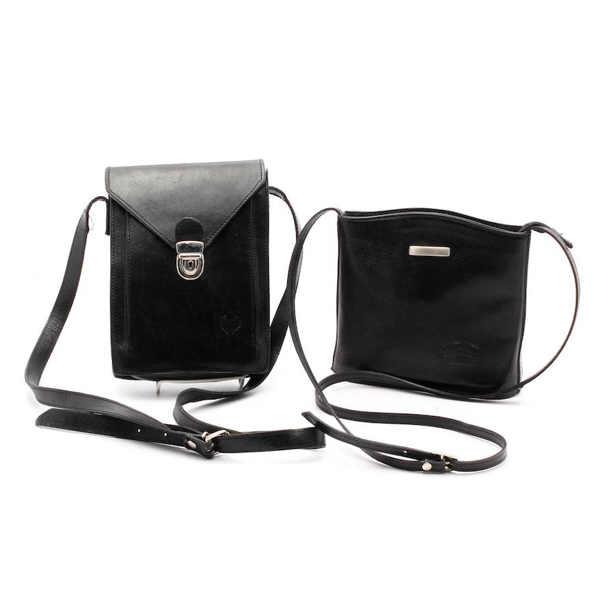Italian Black Leather Crossbody Handbags   EBTH df4c25c35bd7e