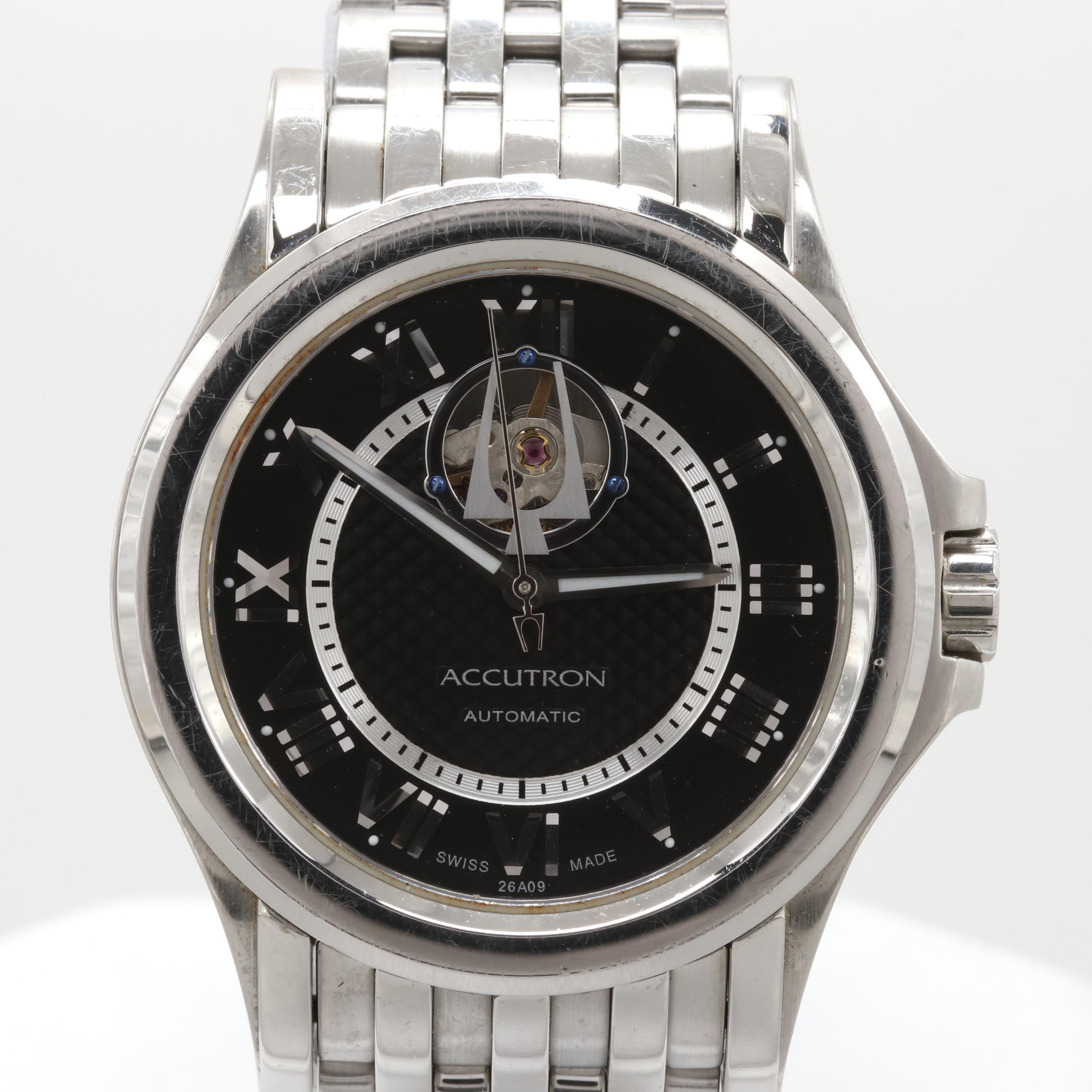Bulova Accutron Gemini Stainless Steel Automatic Wristwatch