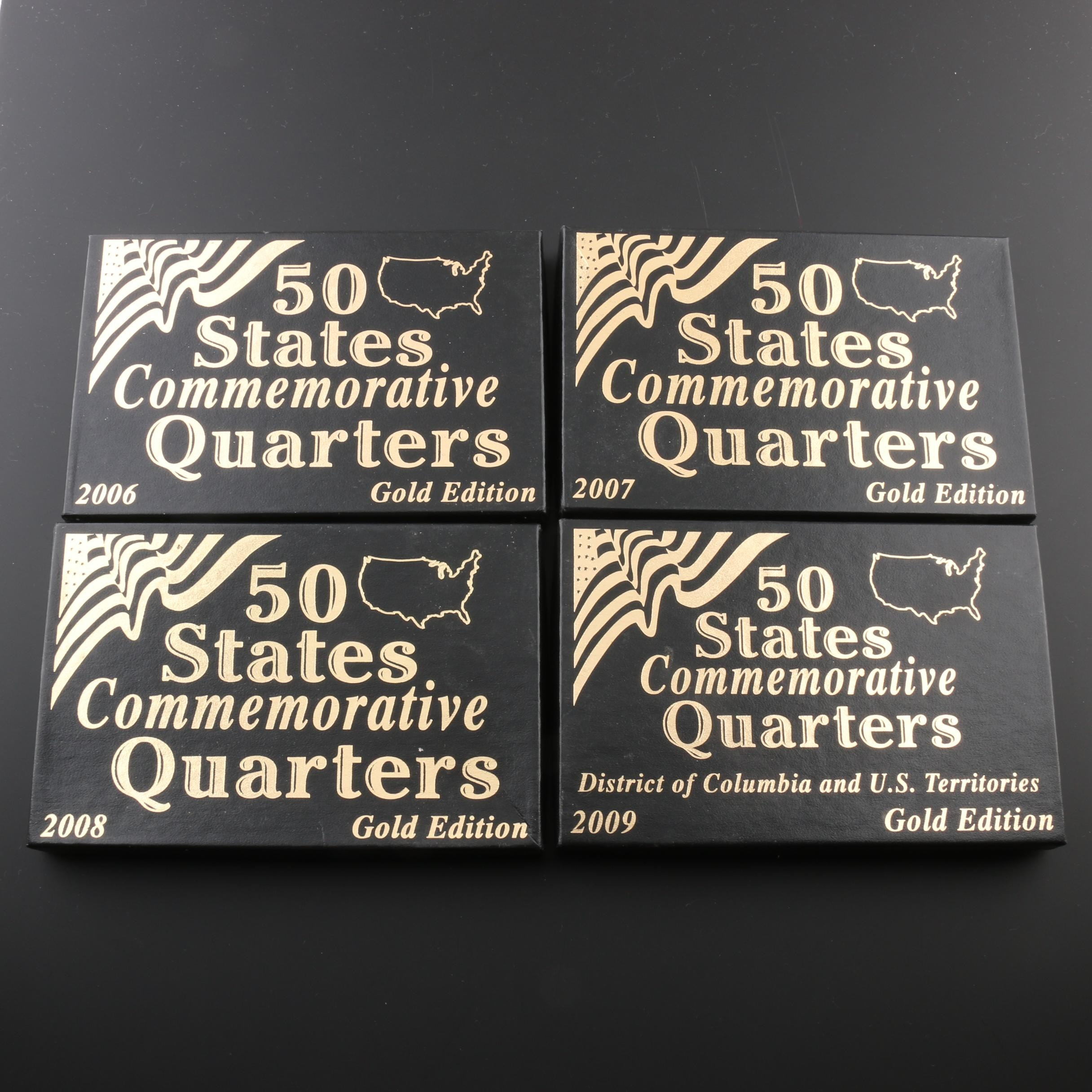 Group of Four Gold Edition Quarter Sets 2006-2009