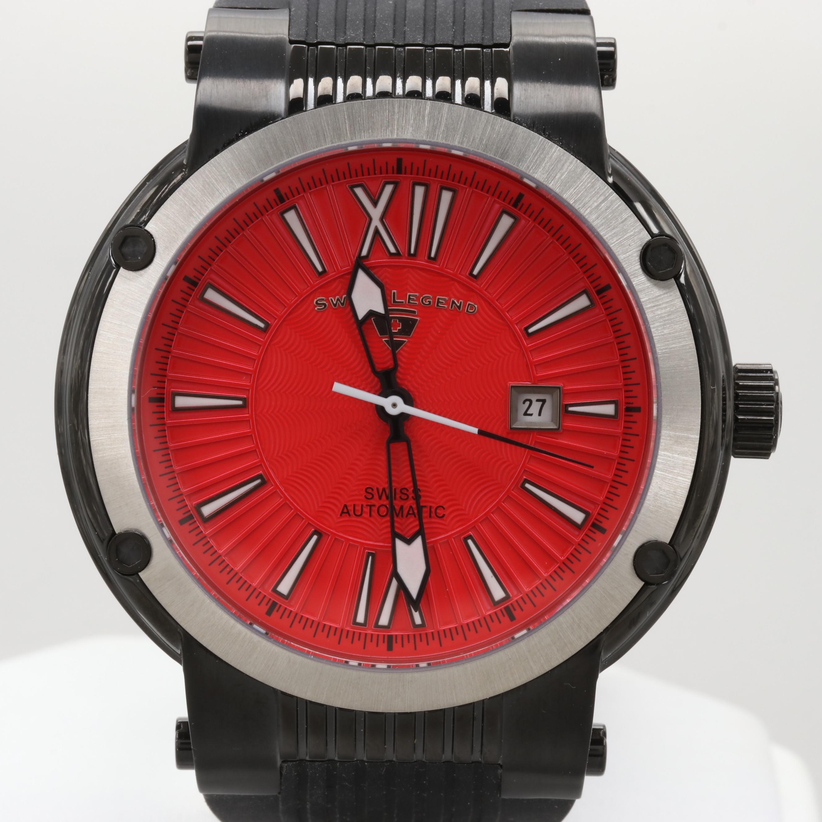 Swiss Legend Legato Cirque Automatic Wristwatch With Watch Winder