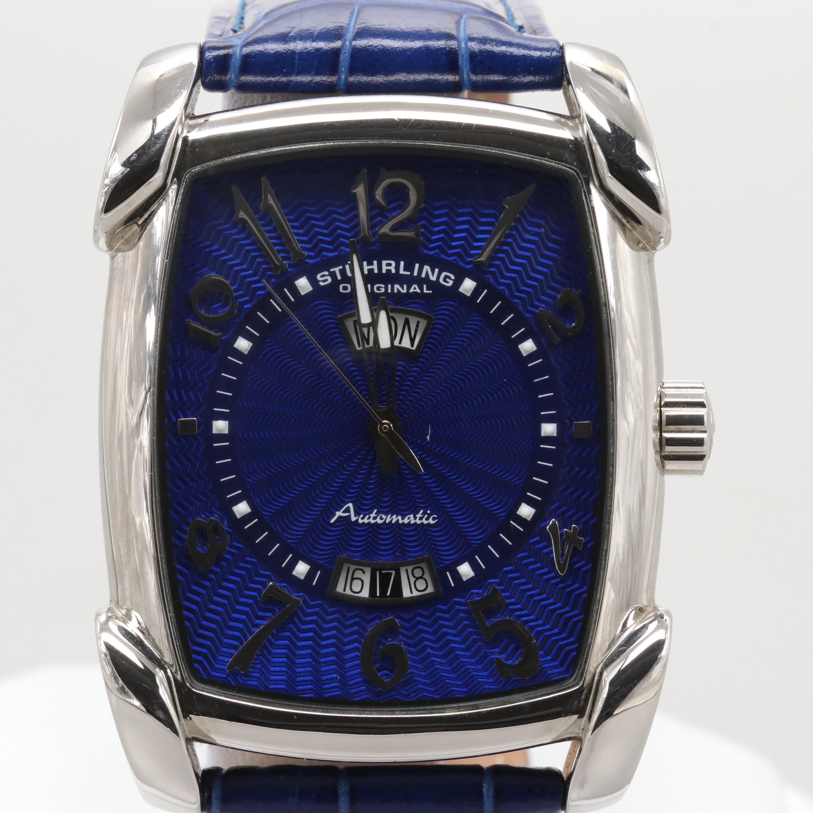 Stuhriling Classic Metropolis Madison Avenue Wristwatch with Day and Date Window