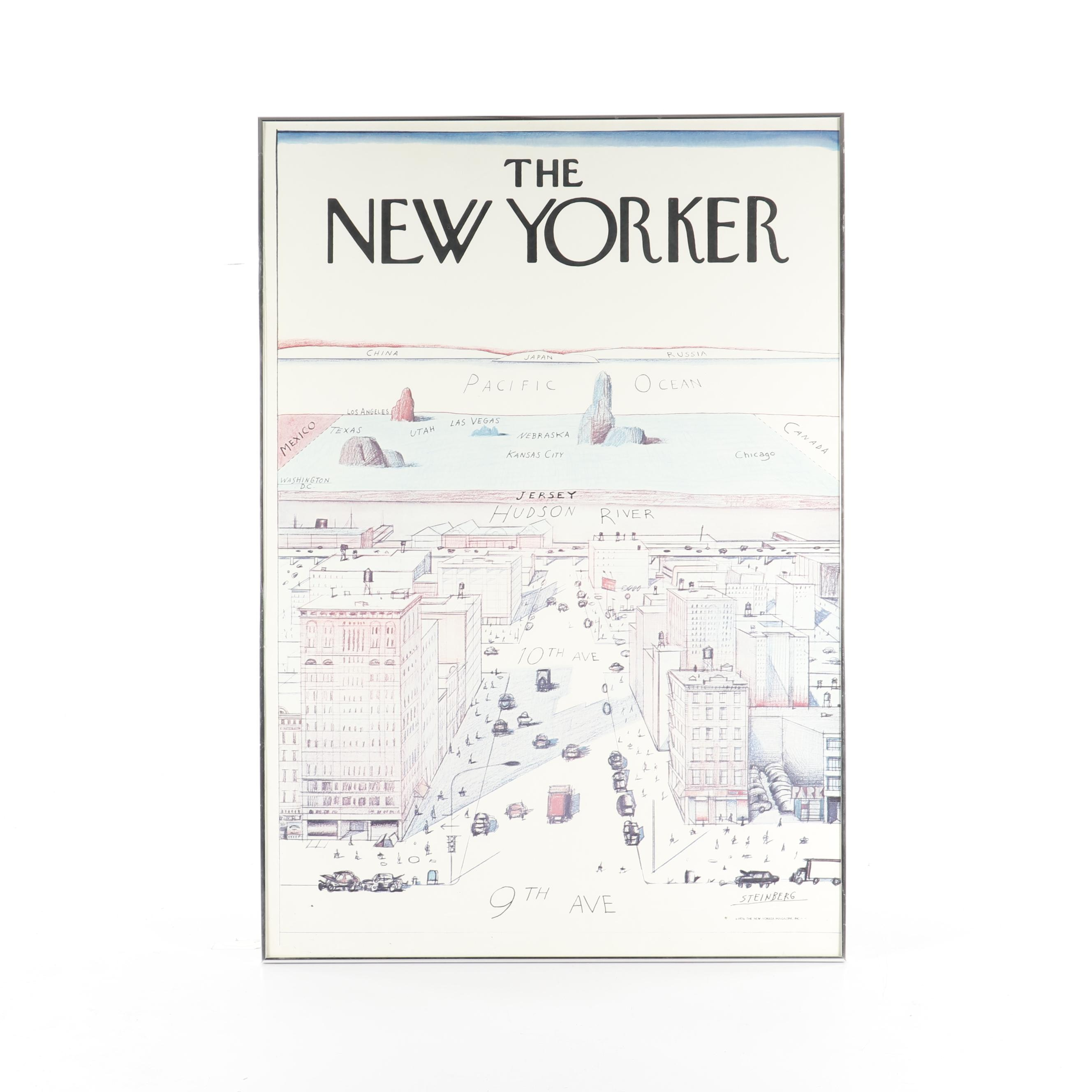 "Poster After Steinberg ""View of the World from 9th Avenue"" for ""The New Yorker"""