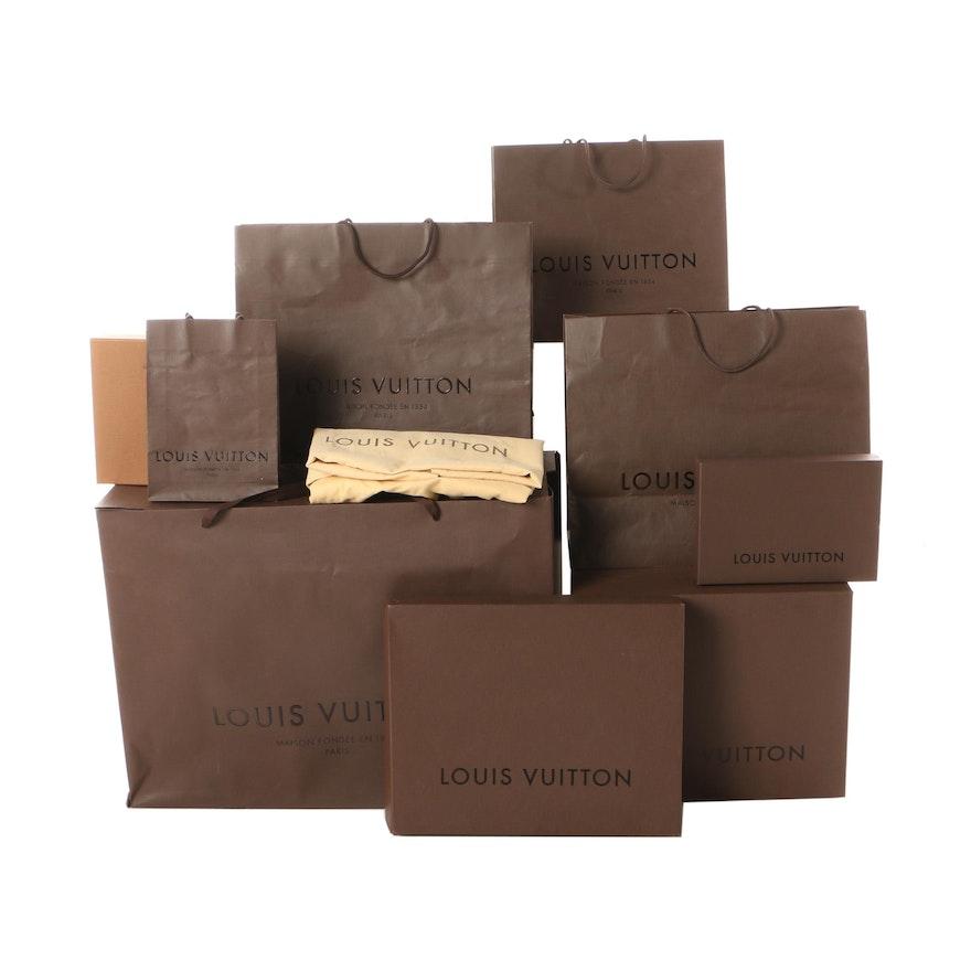 970548db6f49 Pre-2016 Louis Vuitton Brown Gift Bags