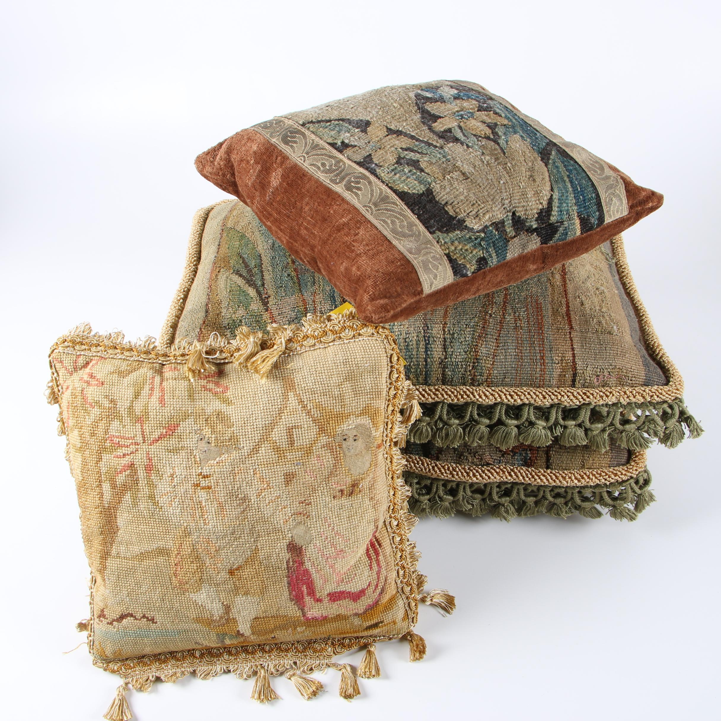 Tapestry Style and Needlepoint Pillows