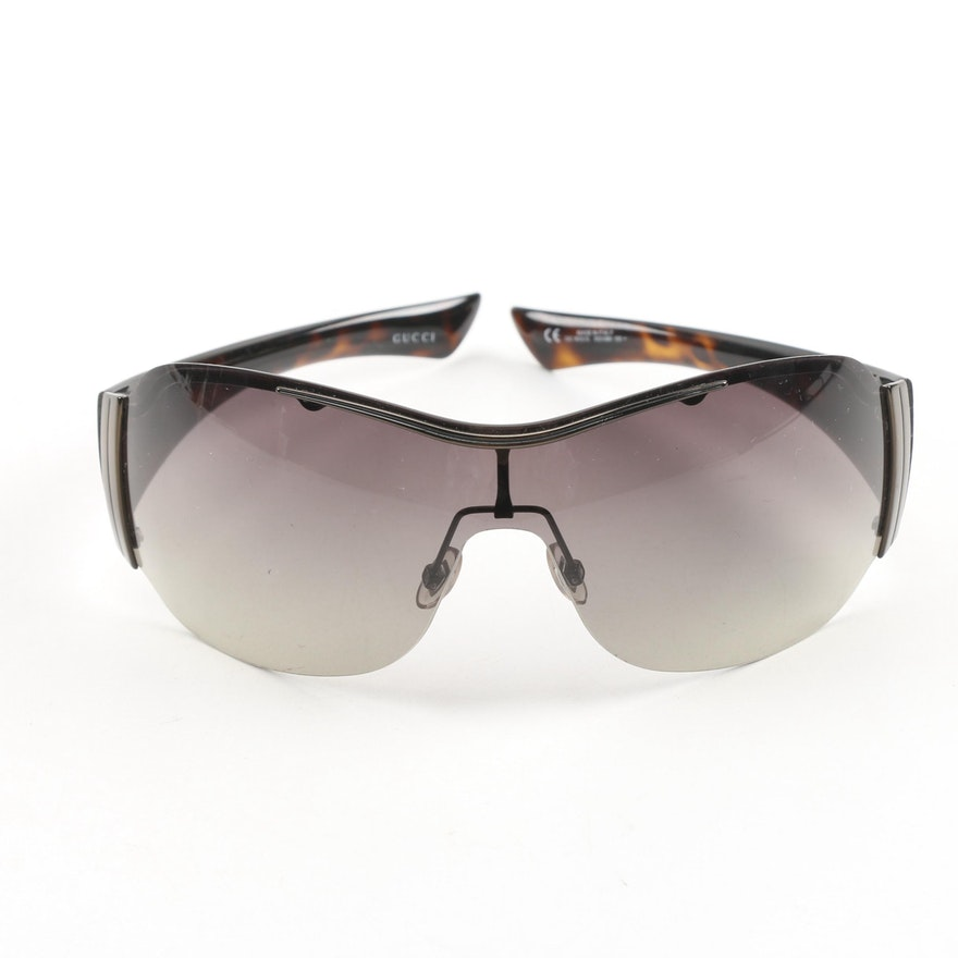 11837f7b7da Gucci GG 1855 S Shield Sunglasses   EBTH