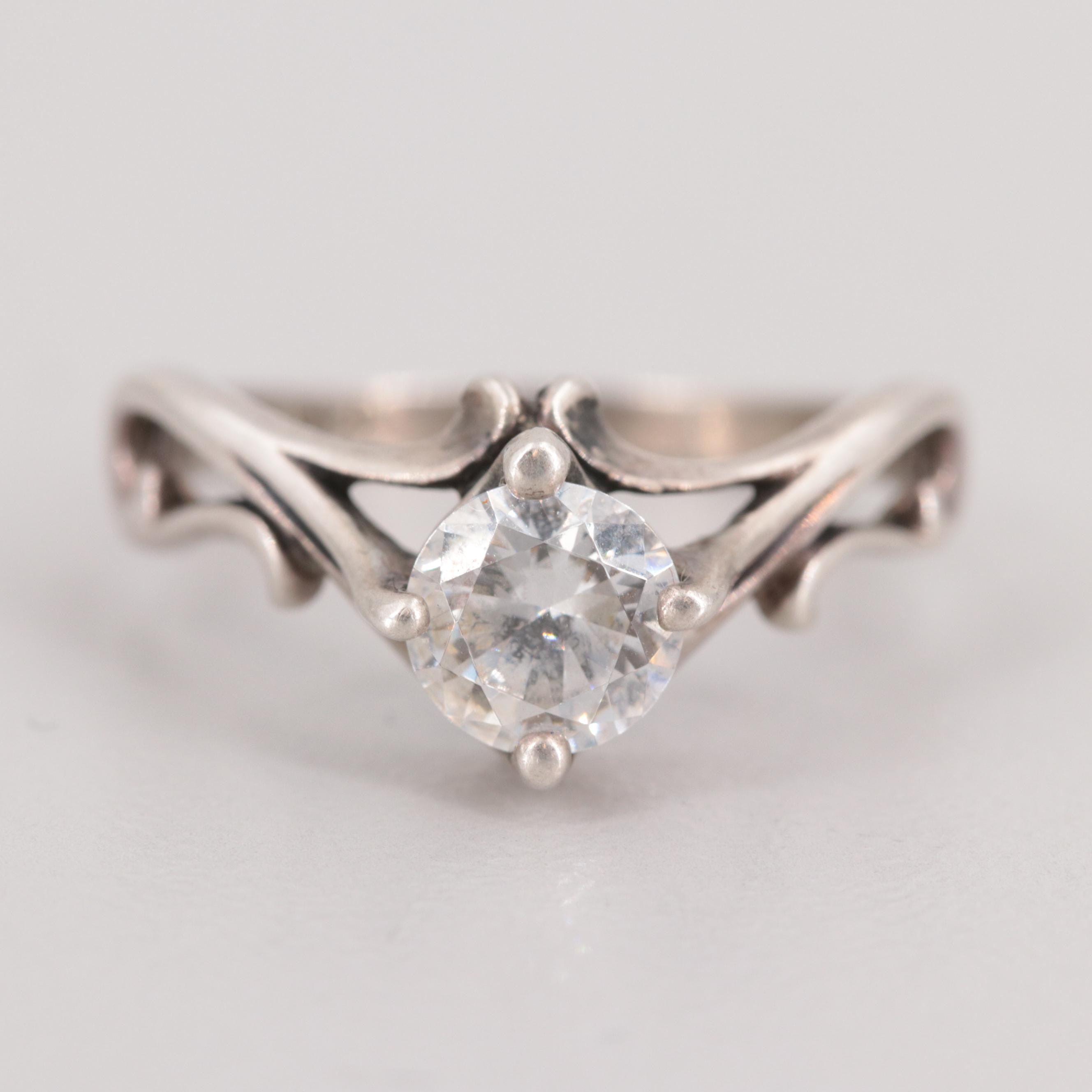 Kabana Sterling Silver Cubic Zirconia Ring