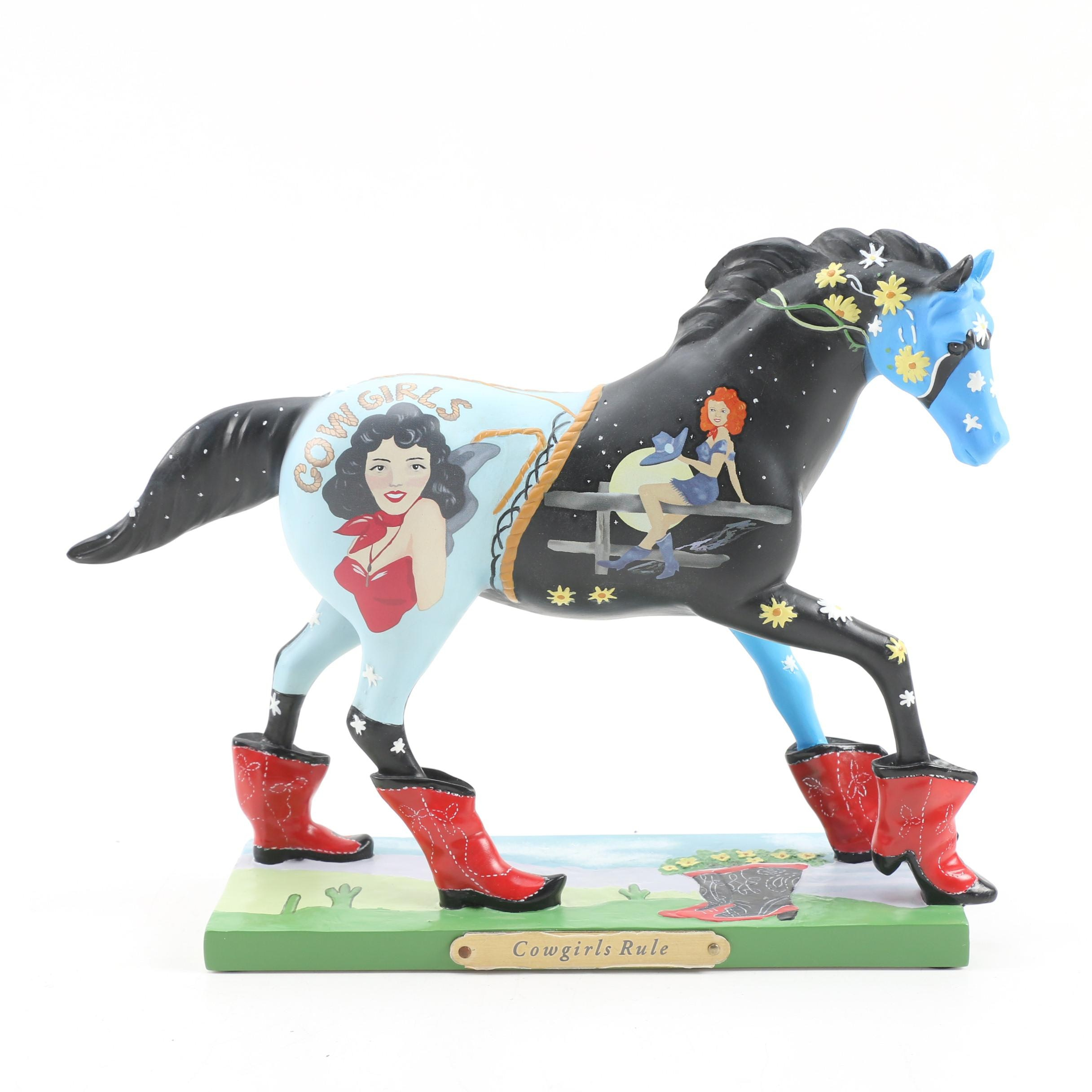 """The Trail of Painted Ponies """"Cowgirls Rule"""" Figurine"""