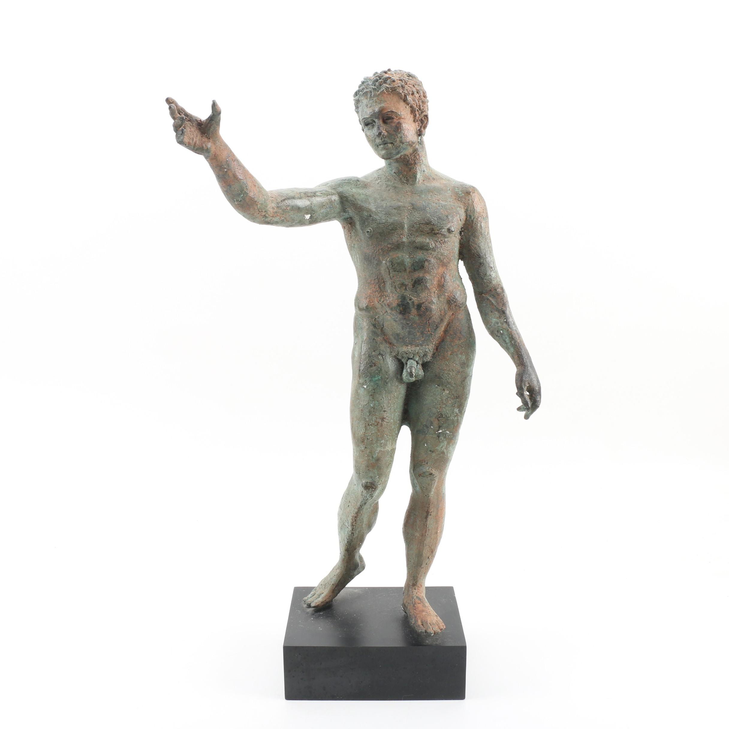 Classical Greco-Roman Style Cast Metal Figural Sculpture