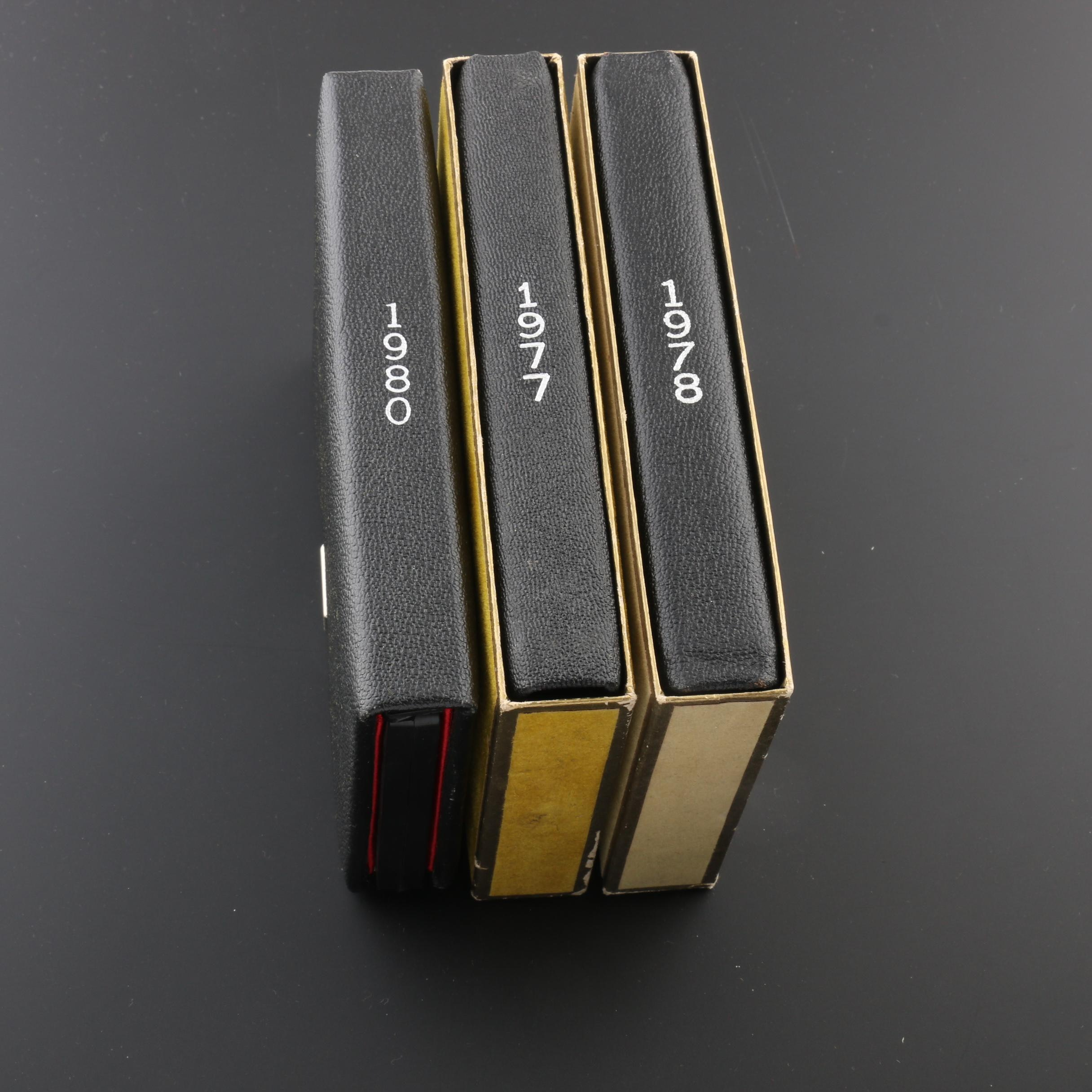 Three Royal Canadian Mint Proof Sets, 1977 to 1980
