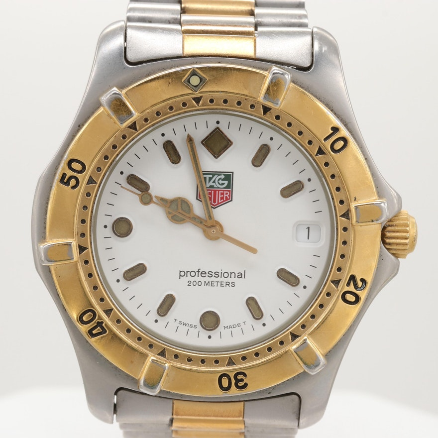 TAG Heuer 2000 Series Two Tone Stainless Steel Quartz Wristwatch