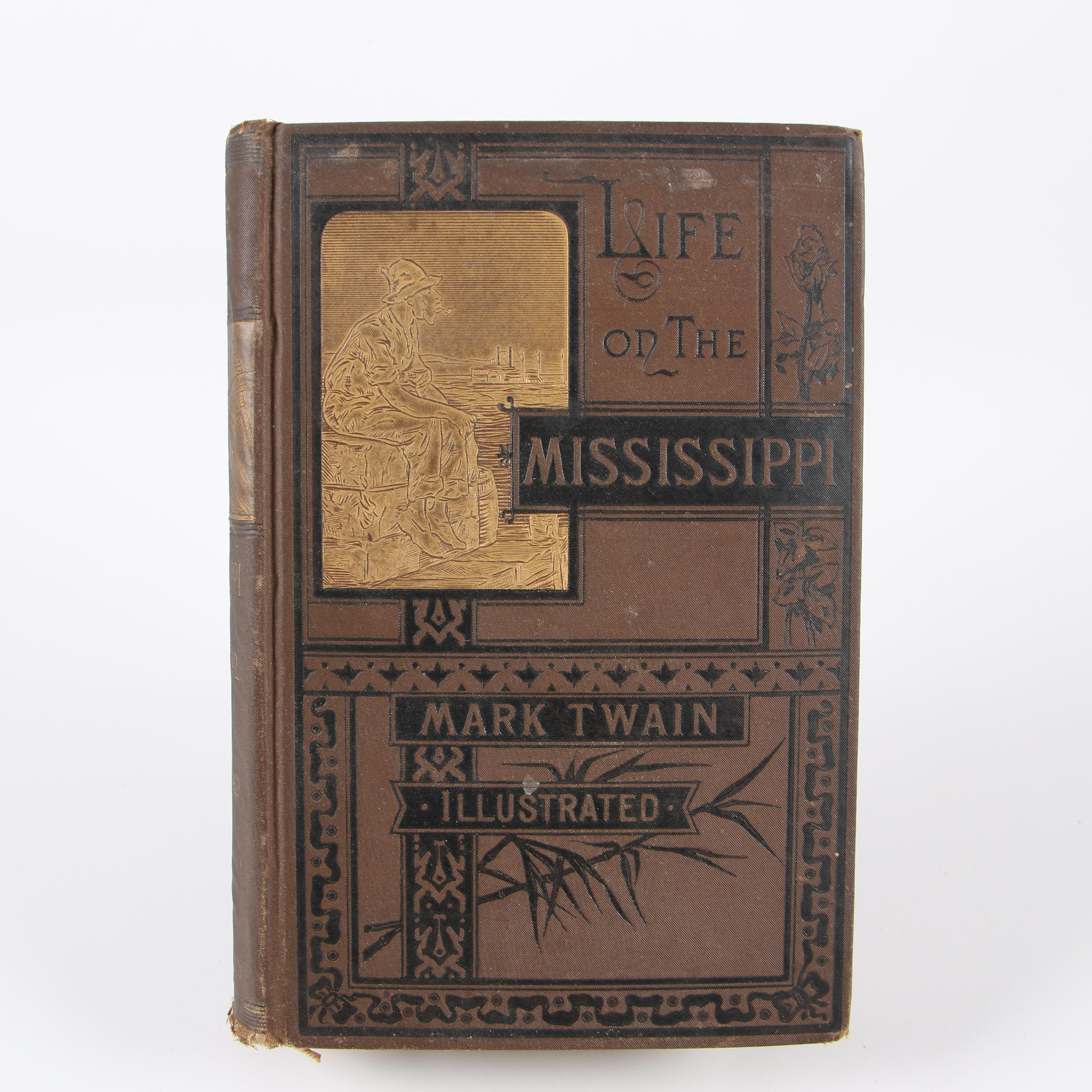 """""""Life on the Mississippi"""" by Mark Twain, 1883 Early Printing"""