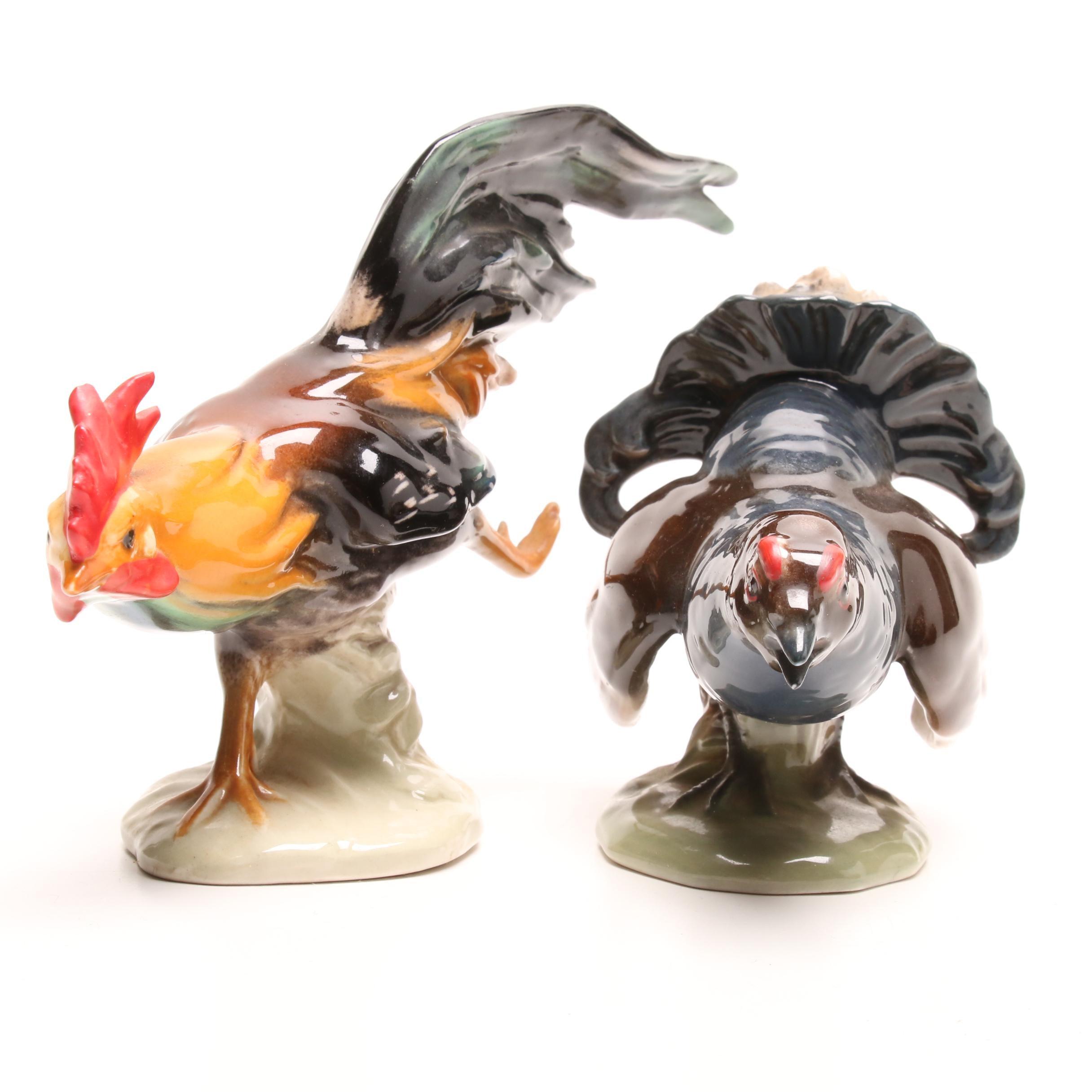 Goebel Rooster and Hen Figurines