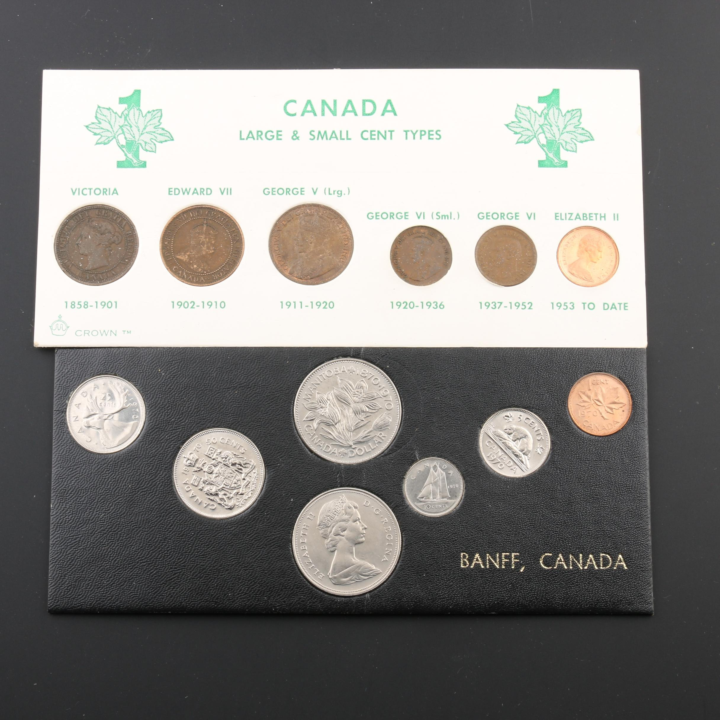 Two Vintage Canadian Coin Sets