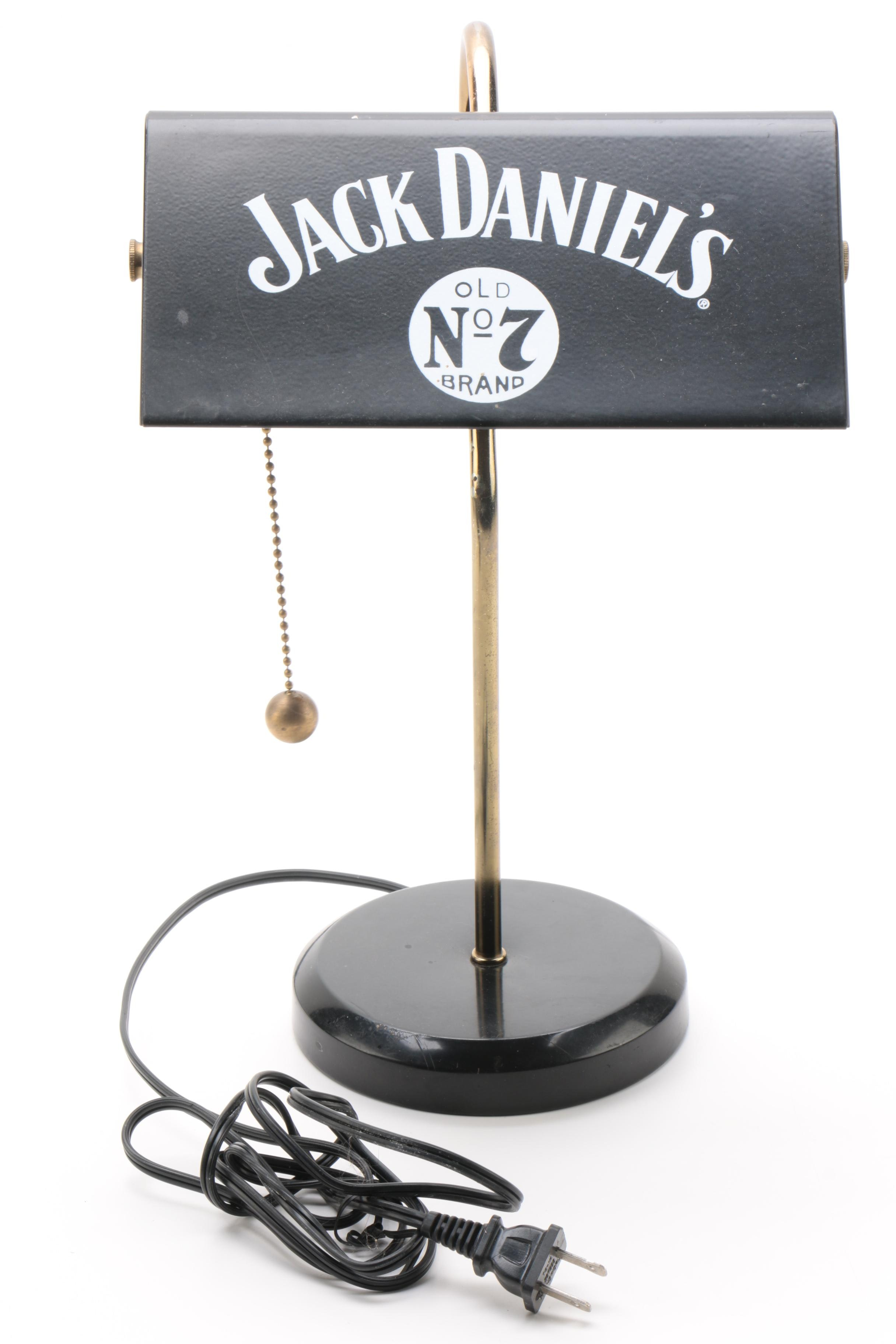 Jack Daniels Table Lamp and Novelty Movement Figurines