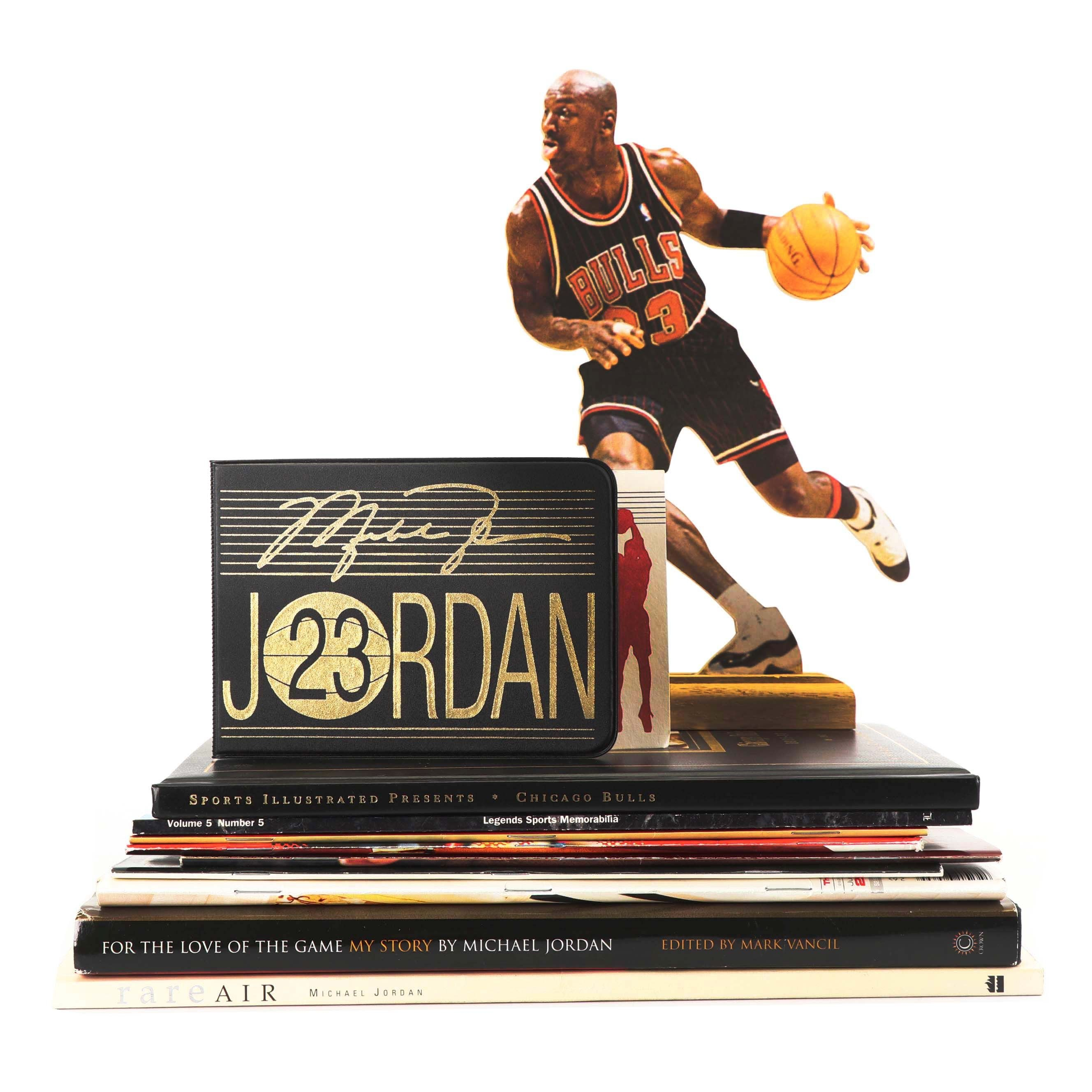 Michael Jordan Gold Stamp First Day Cover, Cutout, Magazines and More