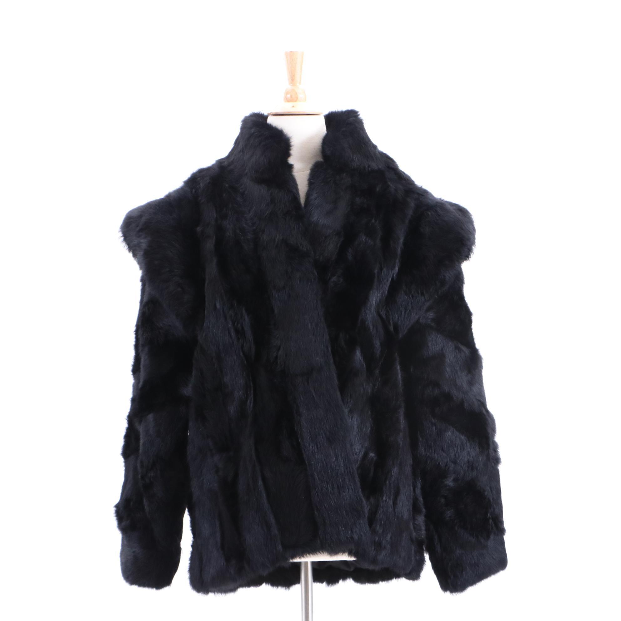 Vintage Bermans Rabbit Fur Coat