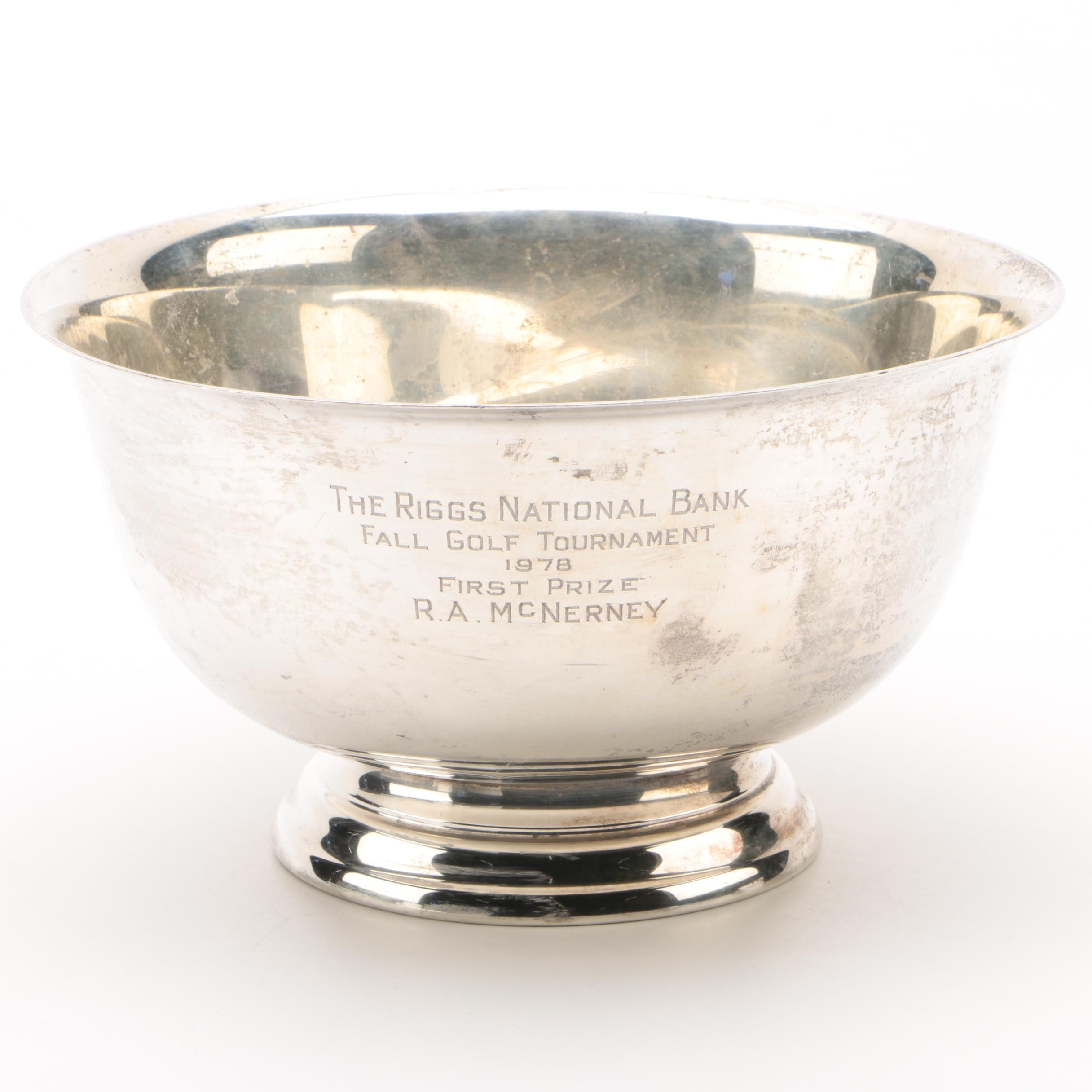 Gorham Sterling Reproduction Paul Revere Bowl, Engraved 1978