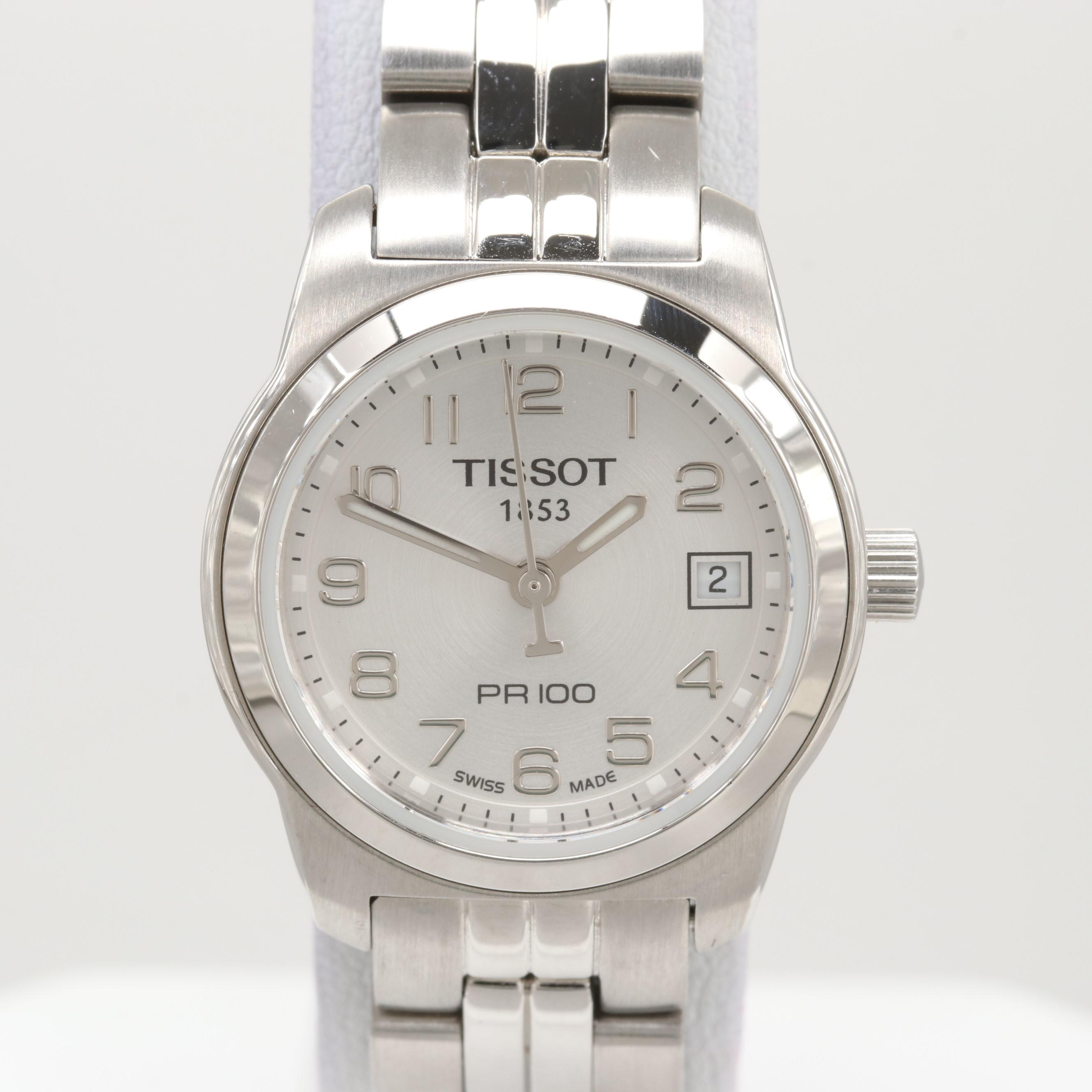 Tissot 1853 Pr100 Stainless Steel Quartz Wristwatch