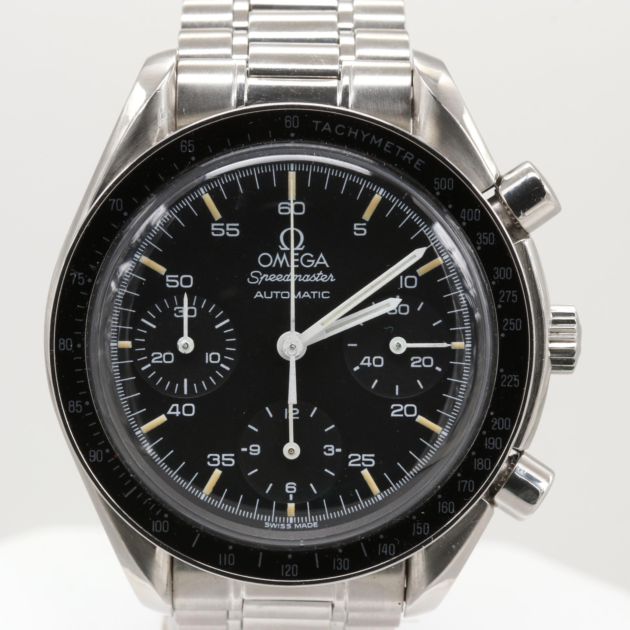 Omega Speedmaster Automatic 35105000 Stainless Steel Wristwatch