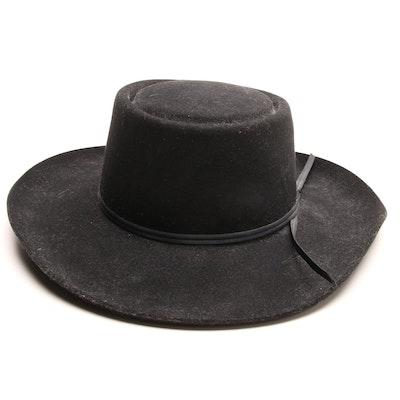 f402b1fe91b Eddy Brothers Lady Luck Black Wool Felt Hat