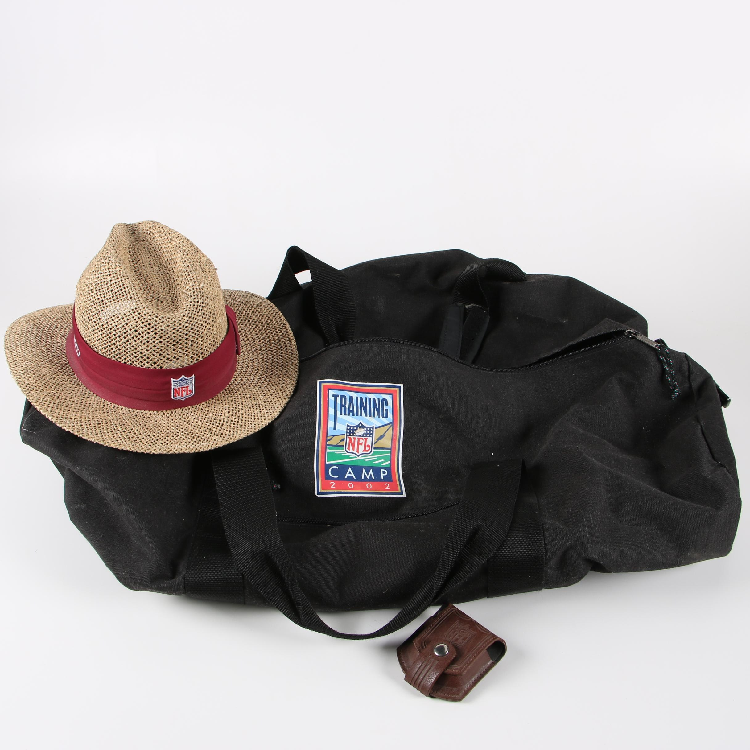 NFL 2002 Training Camp Duffel Bag with 49ers Hat