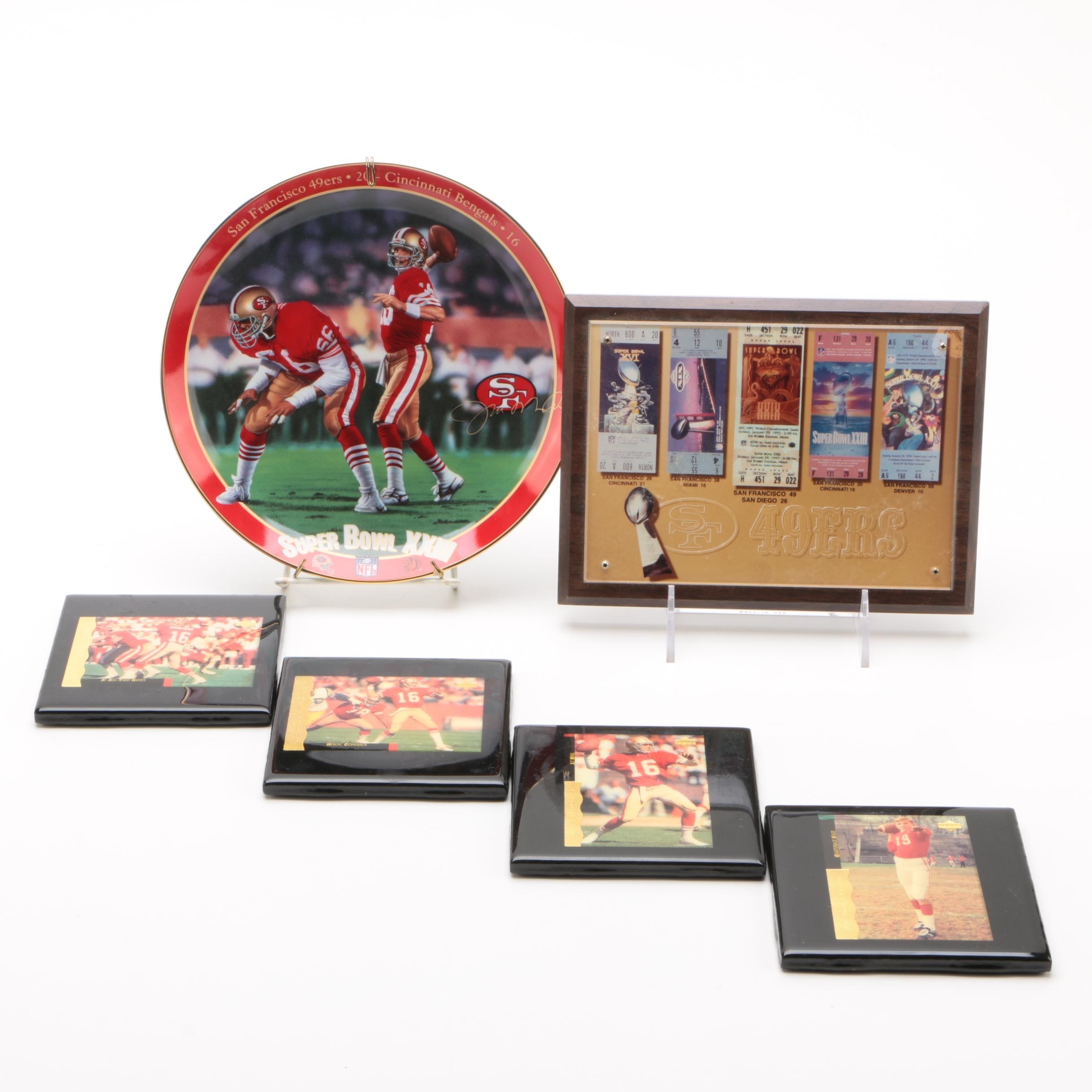 San Francisco 49ers Super Bowl Memorabilia and Coasters