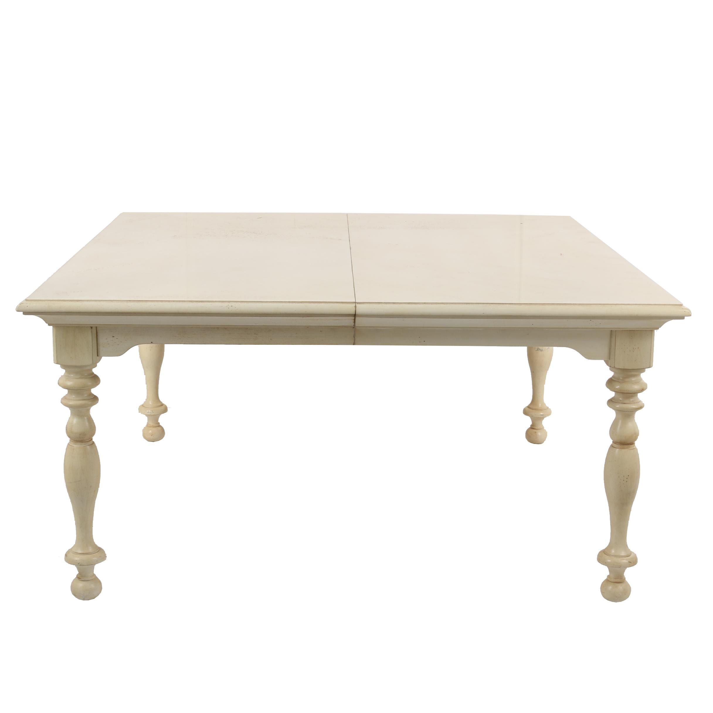 Painted Wooden Dining Table by Hickory White, 21st Century