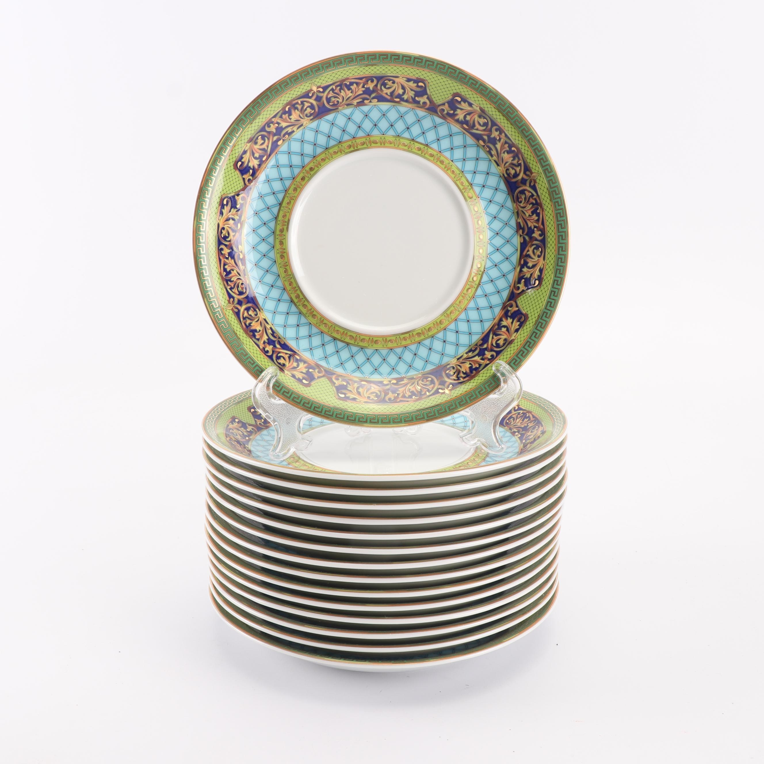 "Versace for Rosenthal ""Russian Dream"" Porcelain Bouillon Saucers"