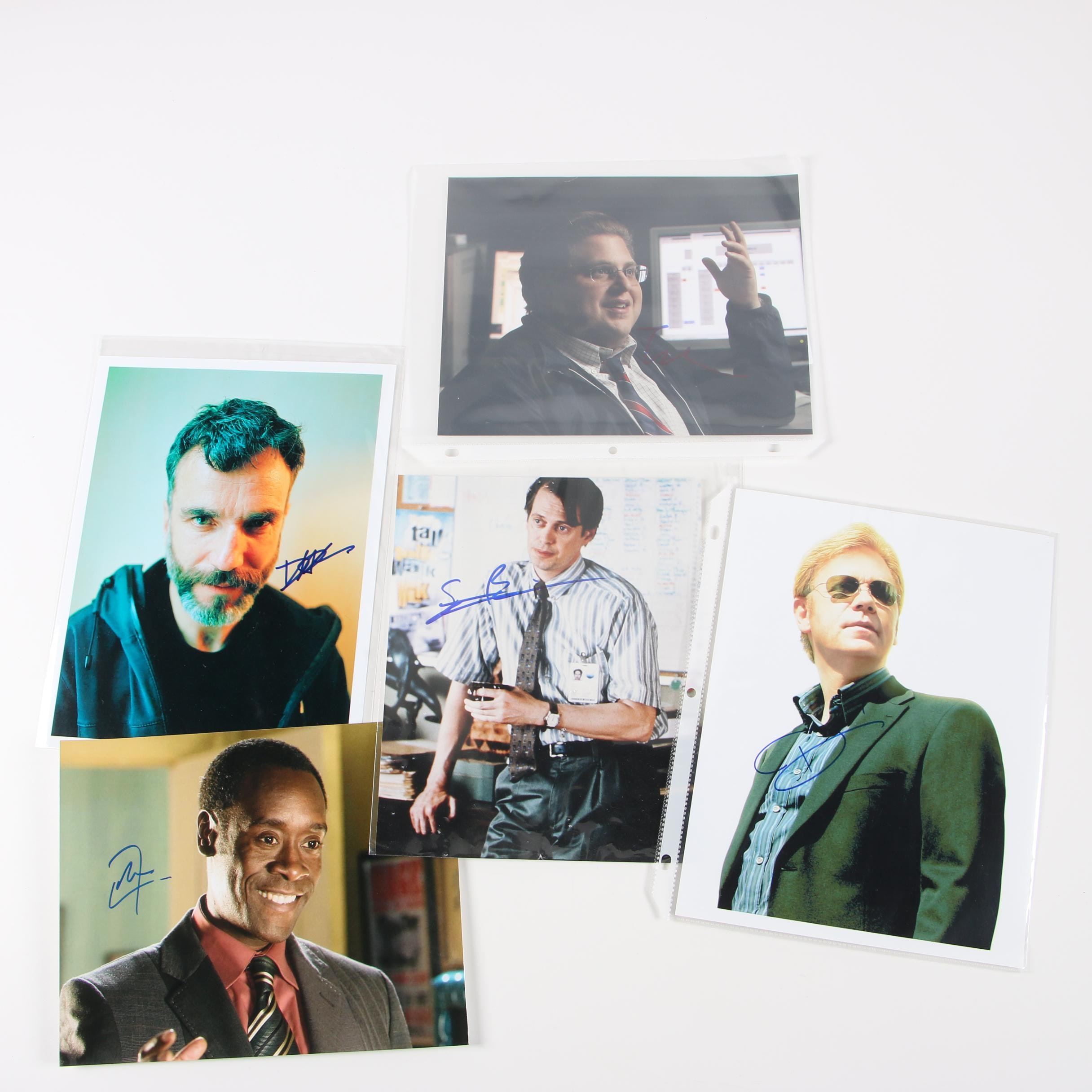 Celebrity Autographed Photos Featuring Daniel Day-Lewis and Steve Buscemi