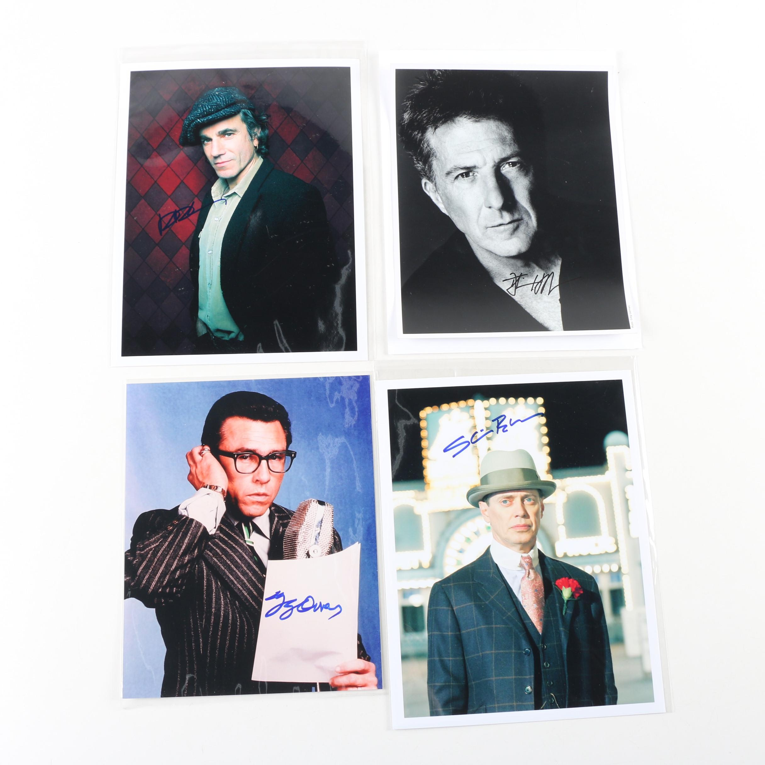Celebrity Autographed Photos Featuring Dustin Hoffman and Daniel Day-Lewis