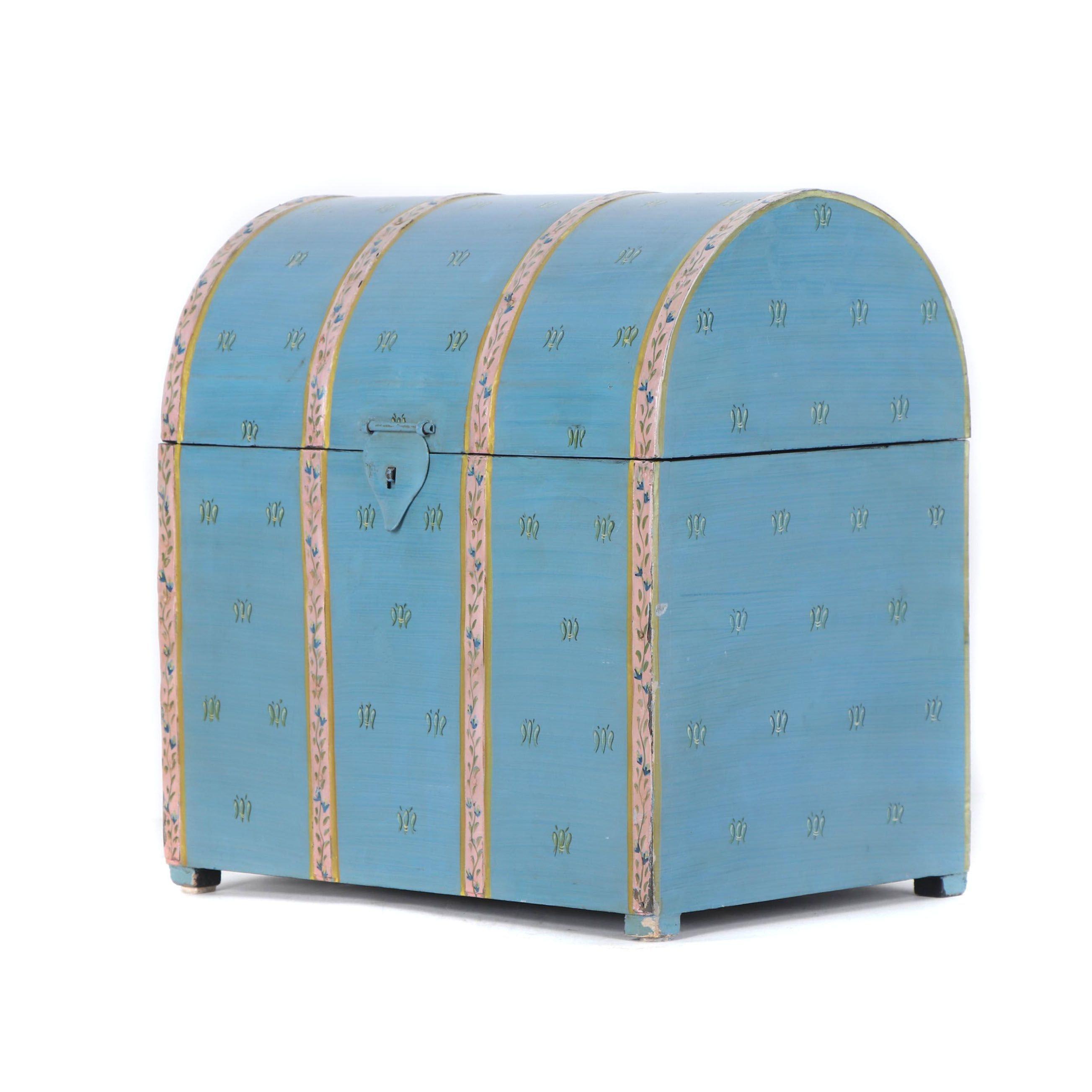 Decorative Hand-Painted Wine Storage Box