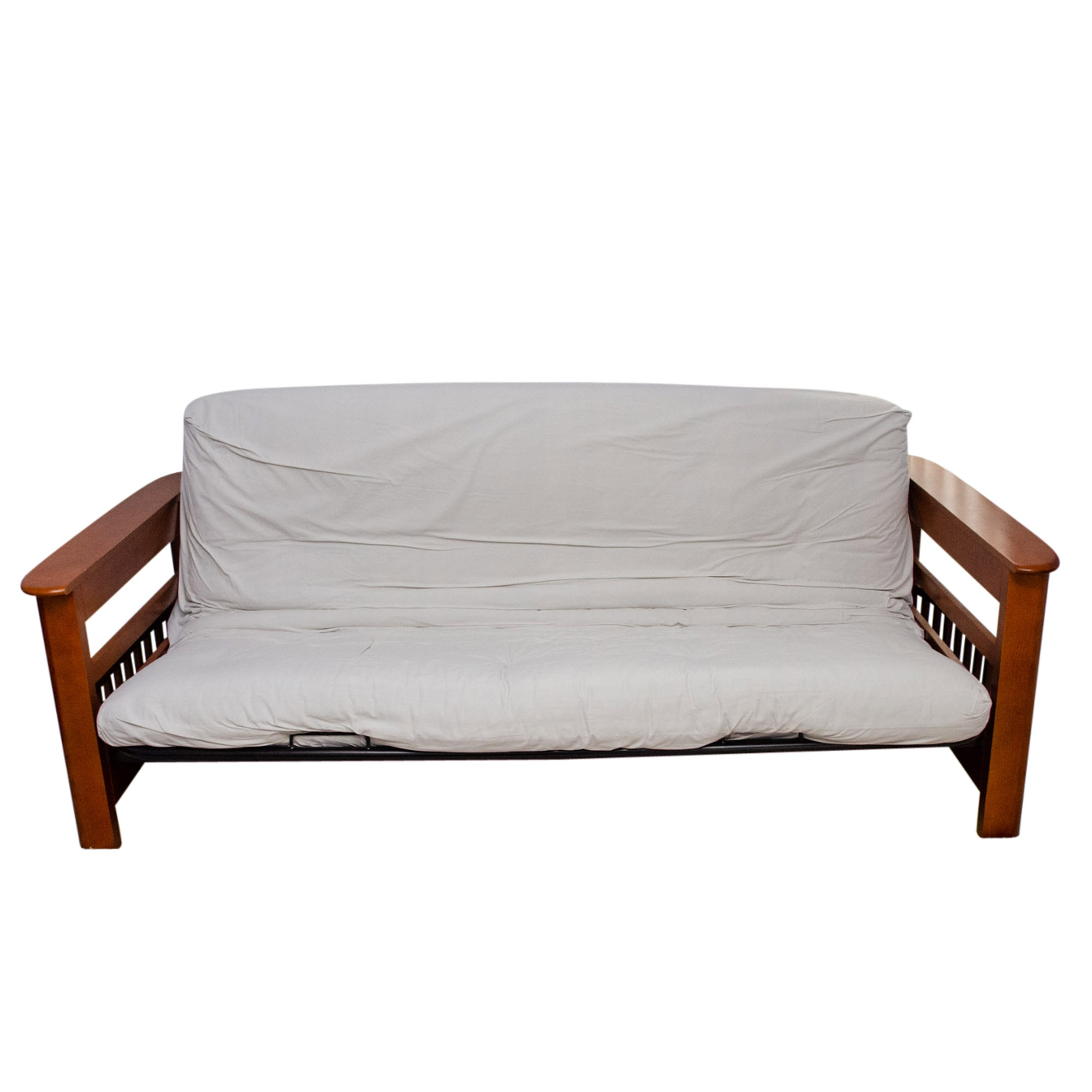Contemporary Wooden Futon Sofa