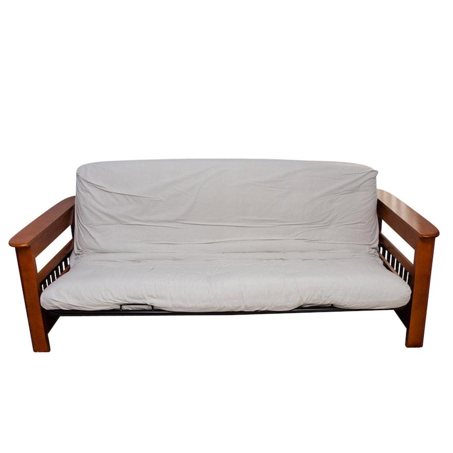 Contemporary Wooden Futon Sofa