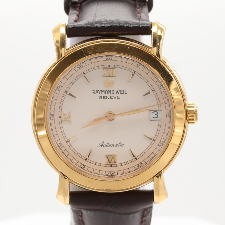 Raymond Weil Tradition Mécanique Gold Tone Automatic Wristwatch