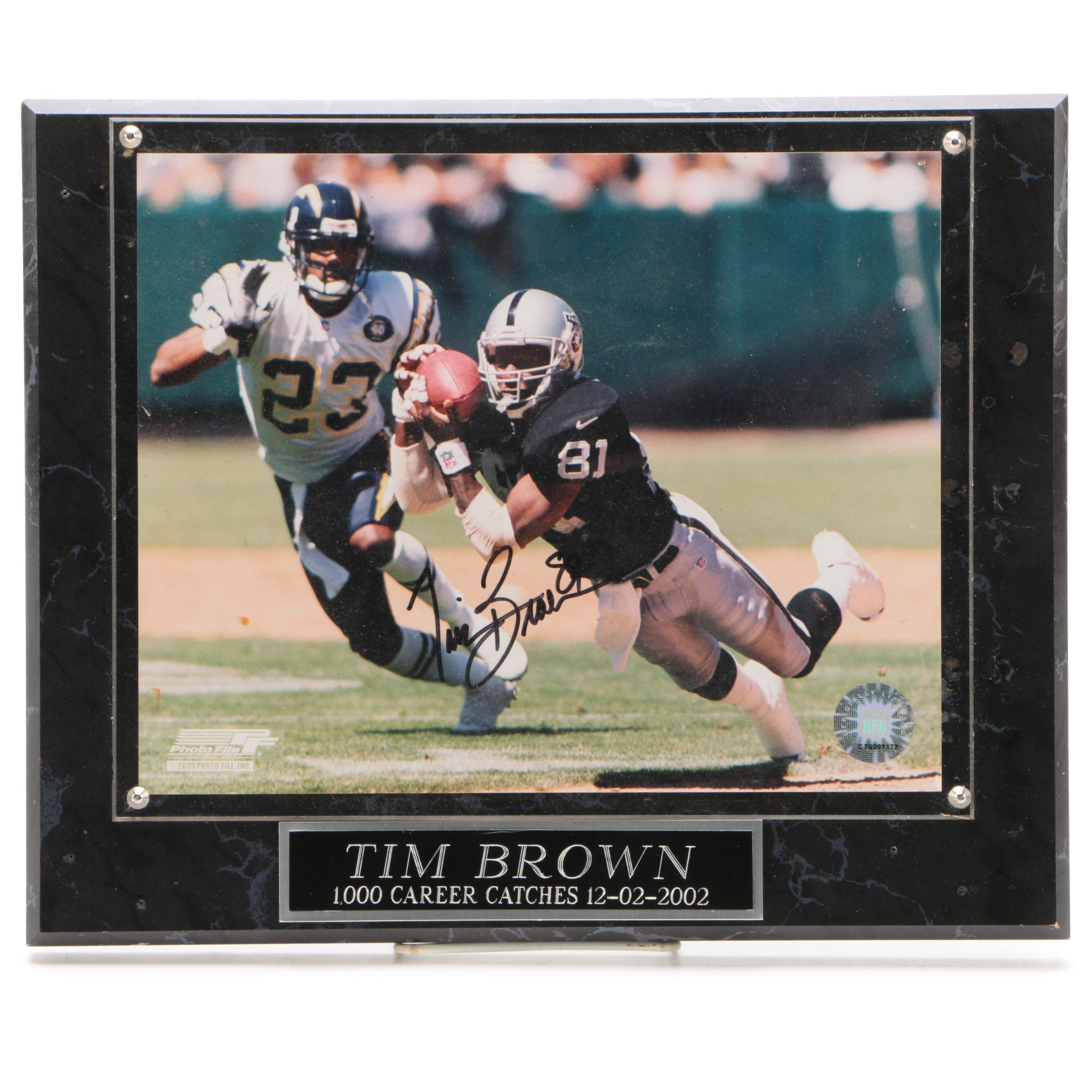 Tim Brown Autographed Oakland Raiders Photo