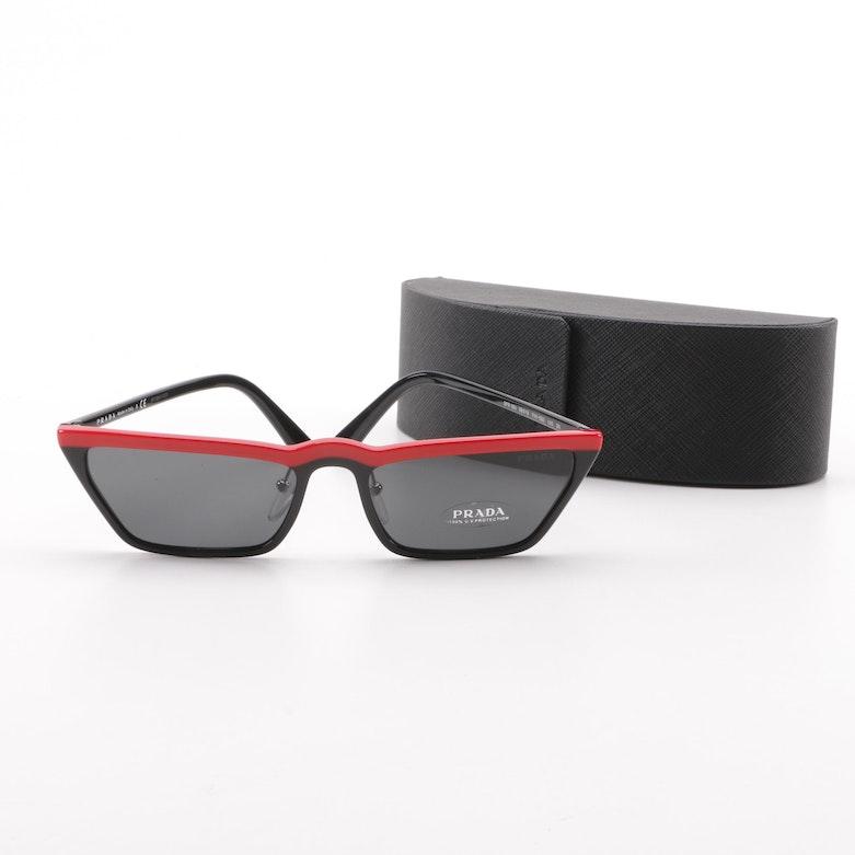 0c96531751d6 Prada SPR 19U Red and Black Sunglasses with Case