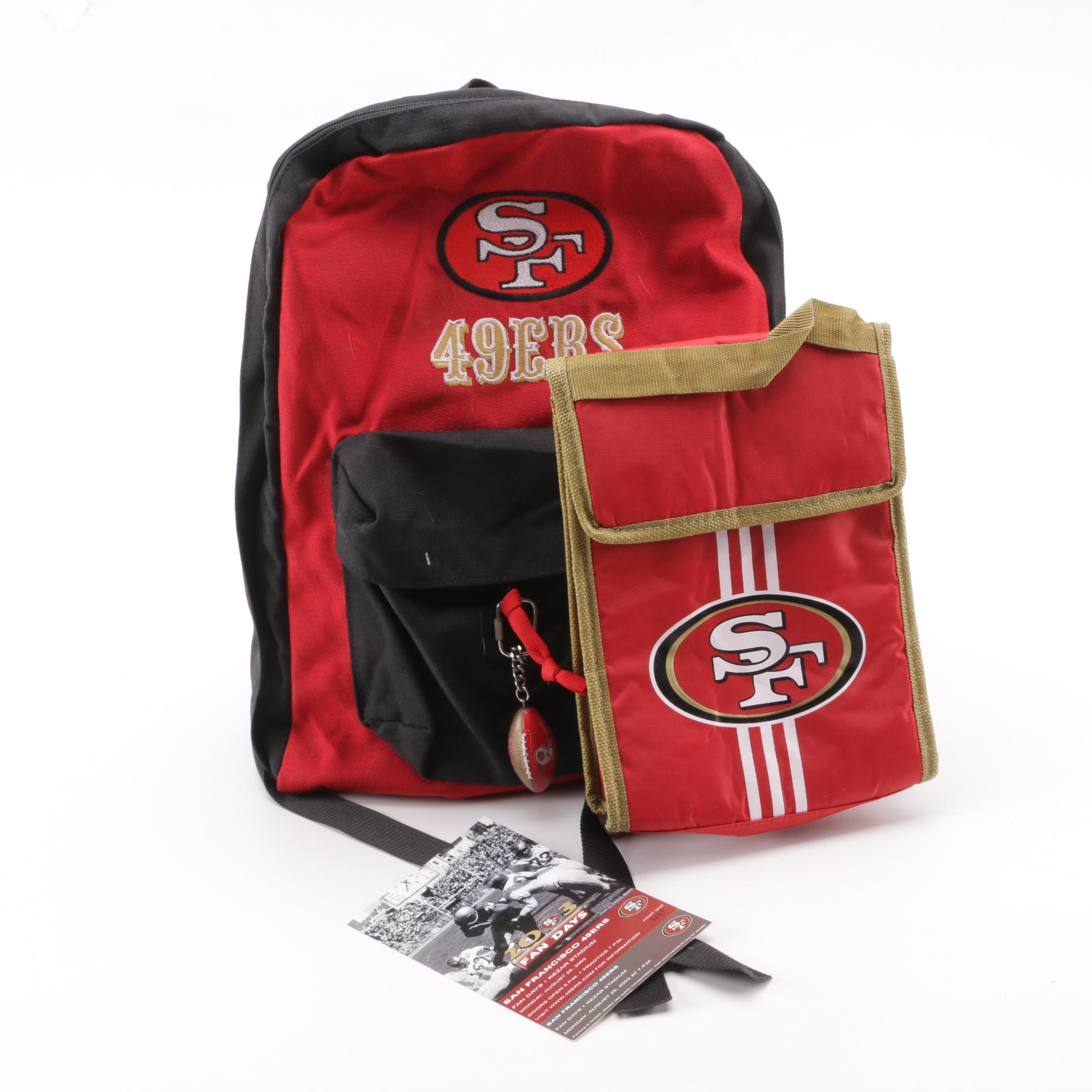 San Francisco 49ers Day Pack, Insulated Drink Sack and Fan Day Ticket