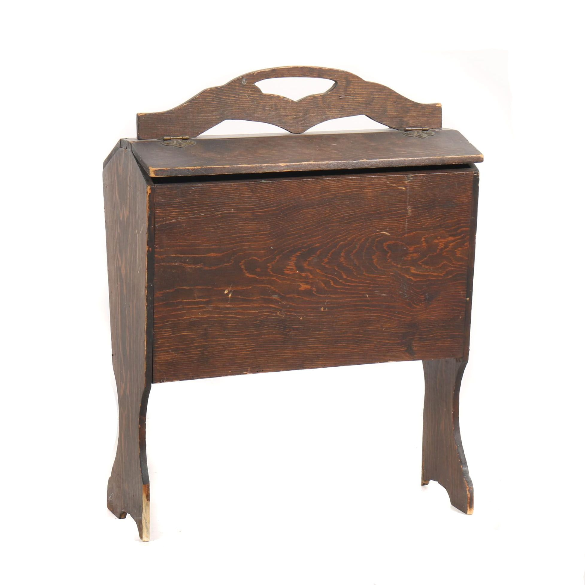 Oak Sewing Box on Stand, Early/Mid-20th Century
