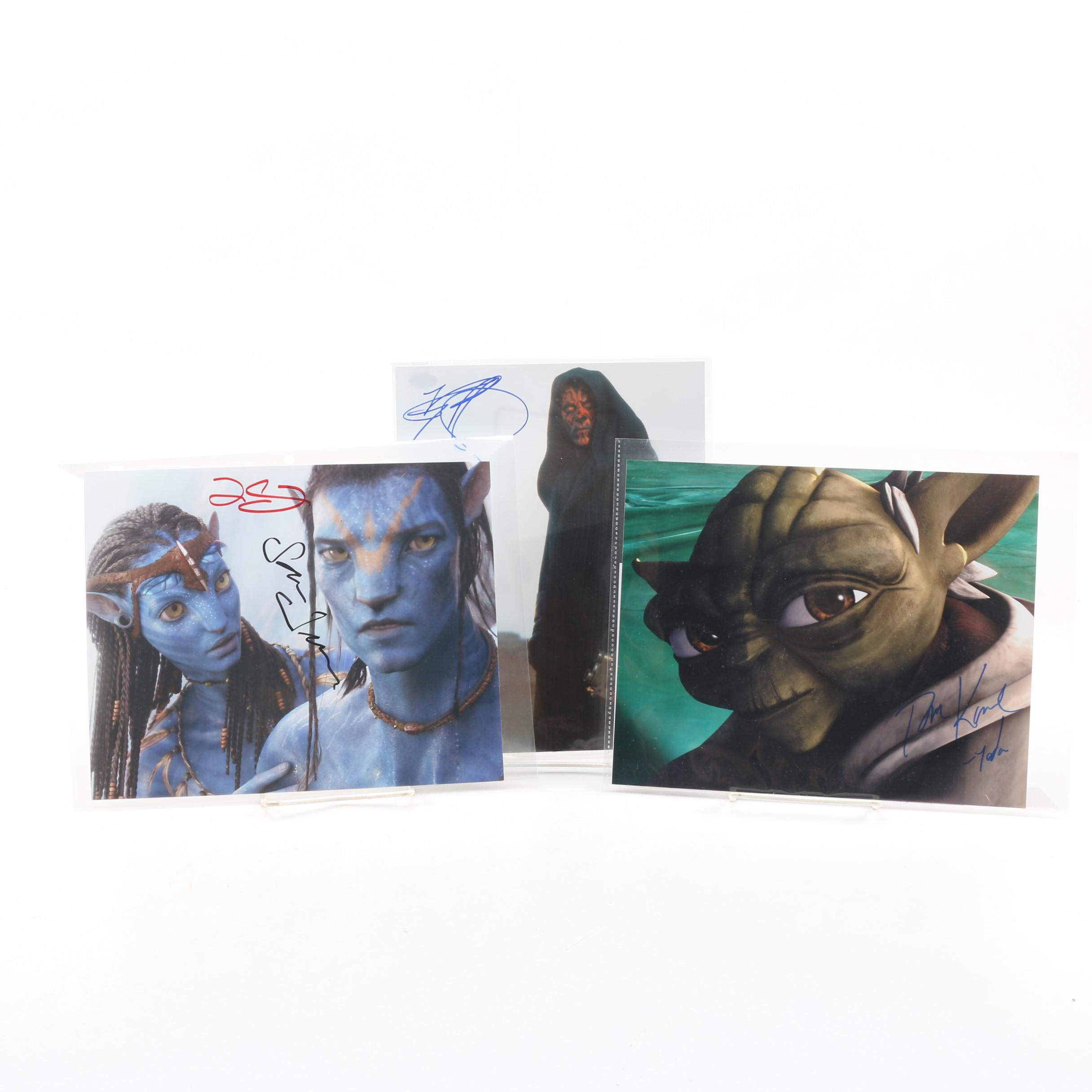 """""""Avatar"""" and """"Star Wars"""" Autographed Photos"""