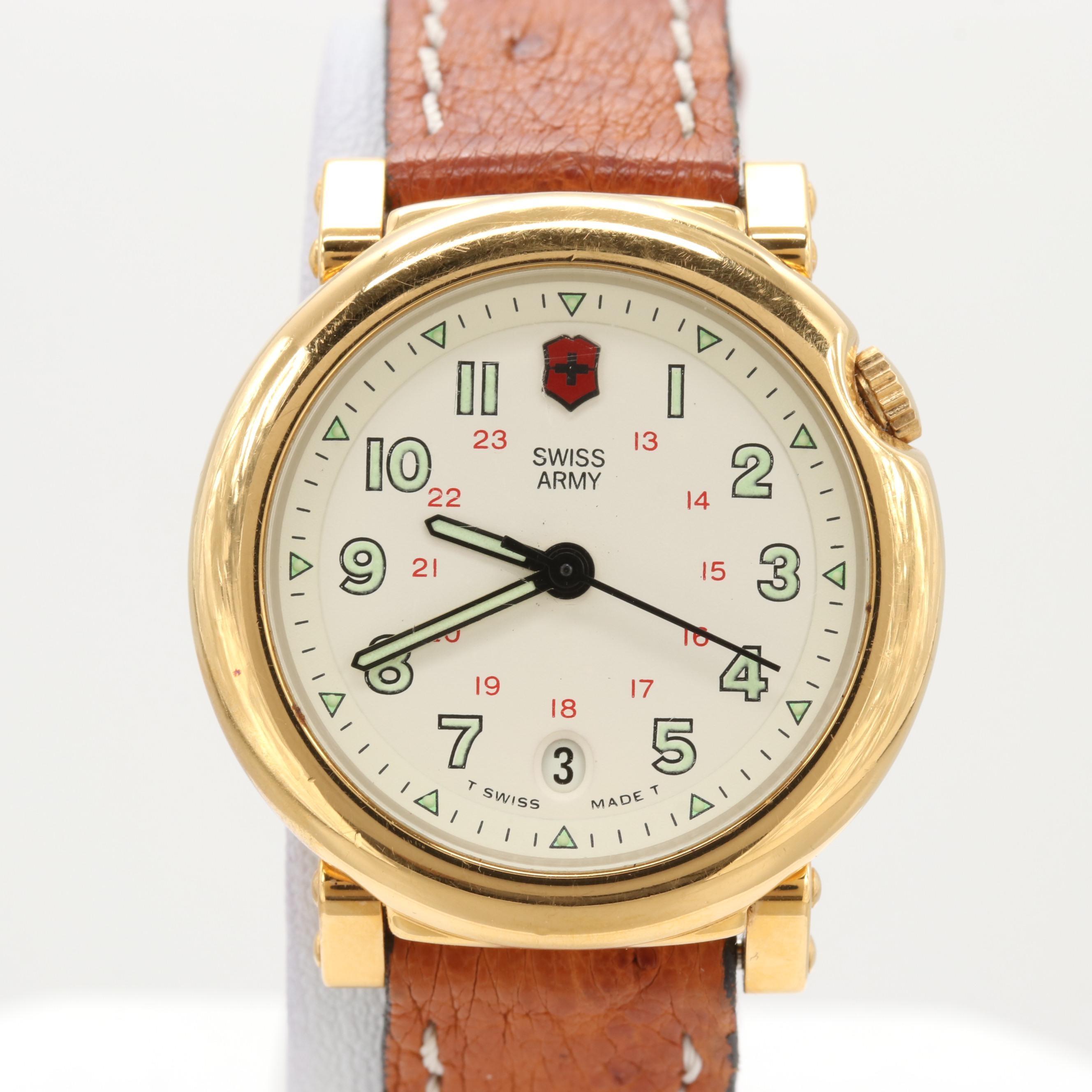 Swiss Army Stainless Steel Wristwatch With Date Window