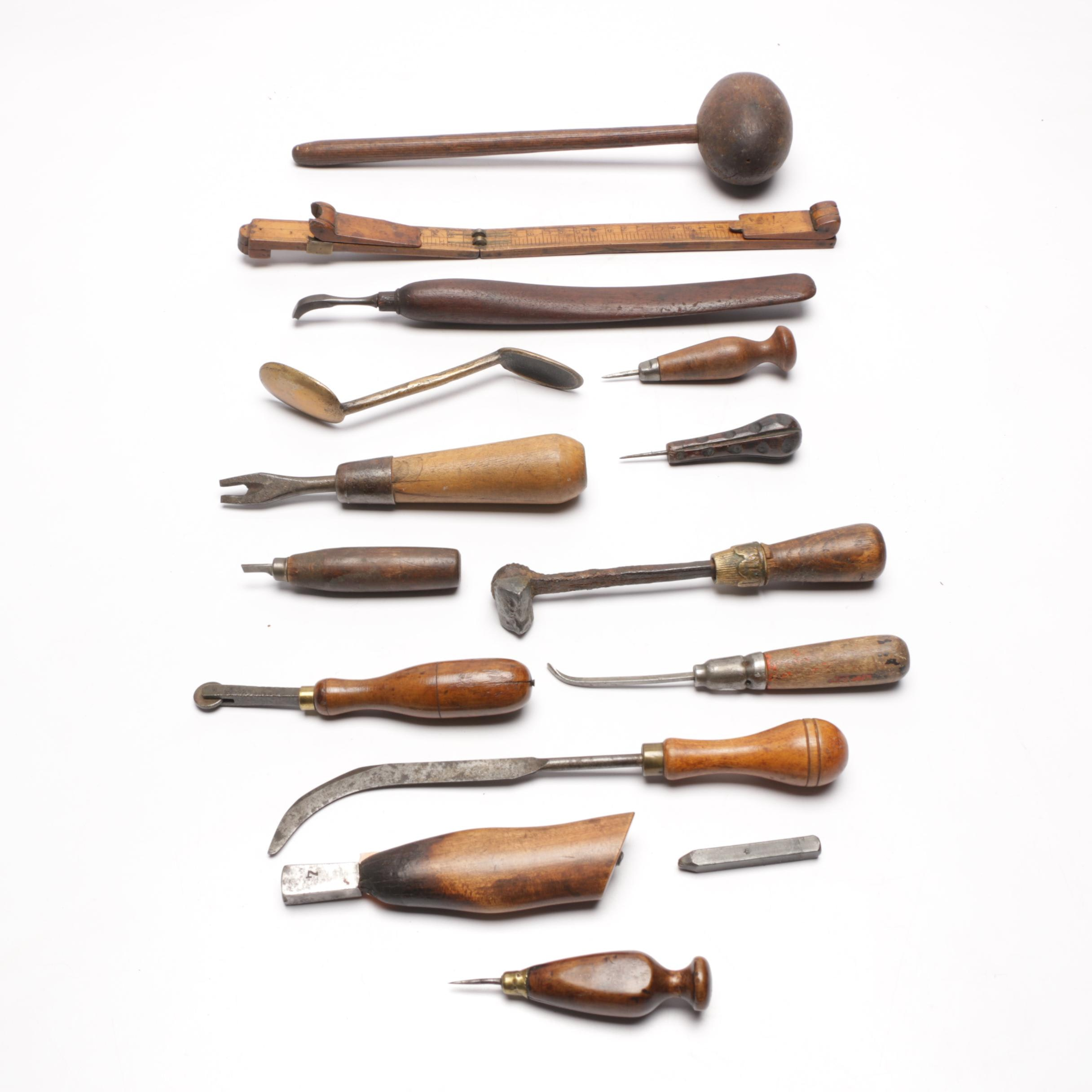 Vintage Leather Working and Cobbler Tools