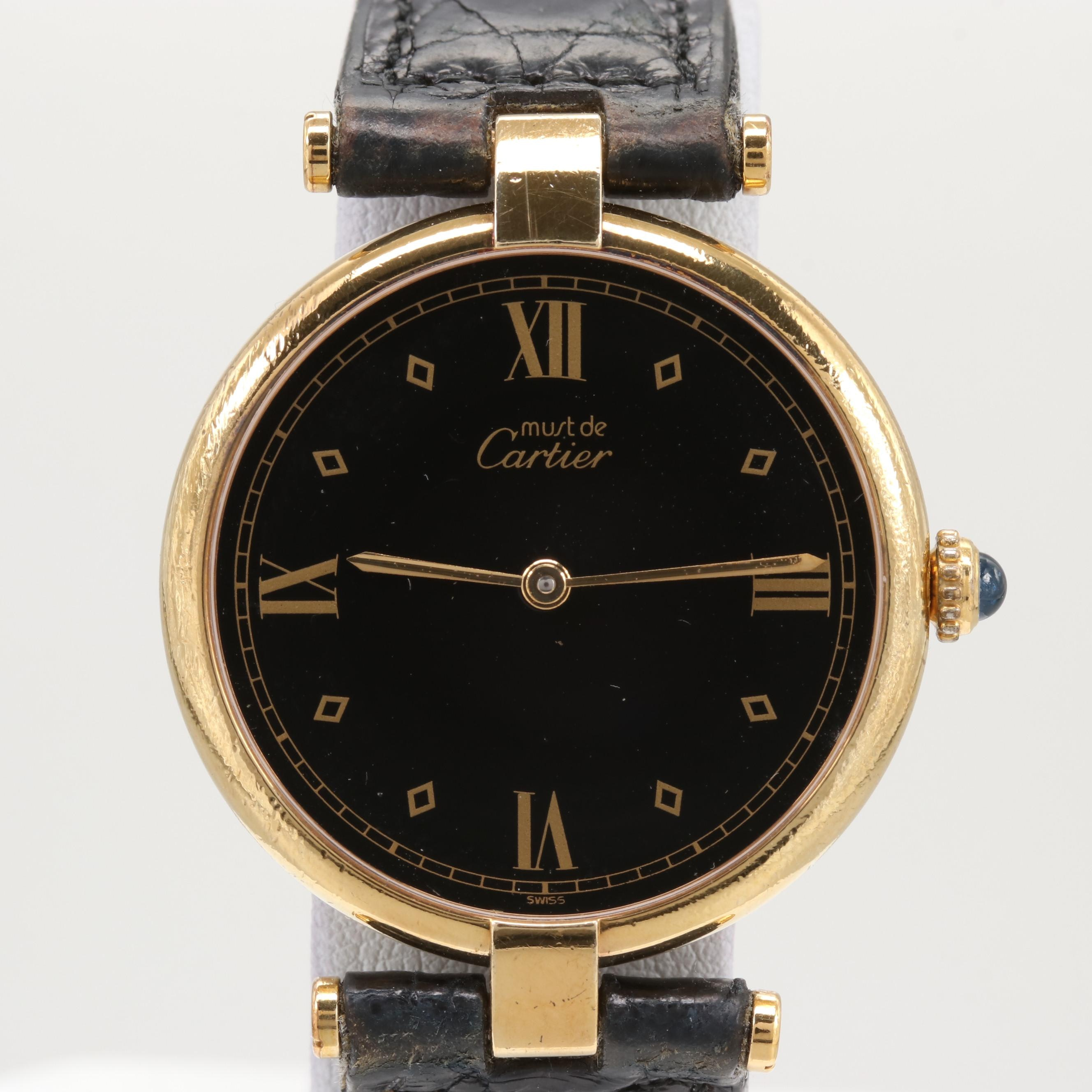 Cartier Must de Cartier Vermeil Quartz Wristwatch